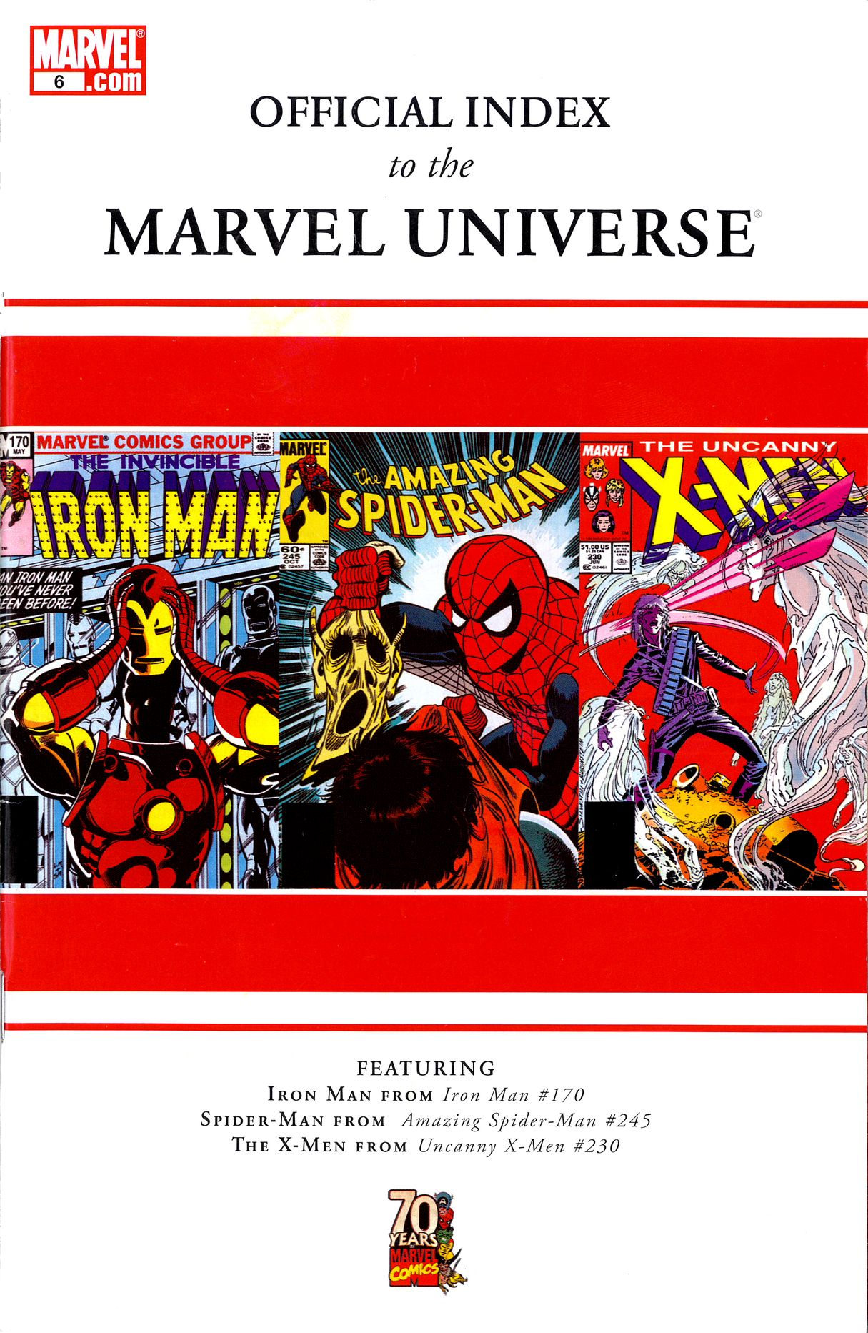 Read online Official Index to the Marvel Universe comic -  Issue #6 - 1