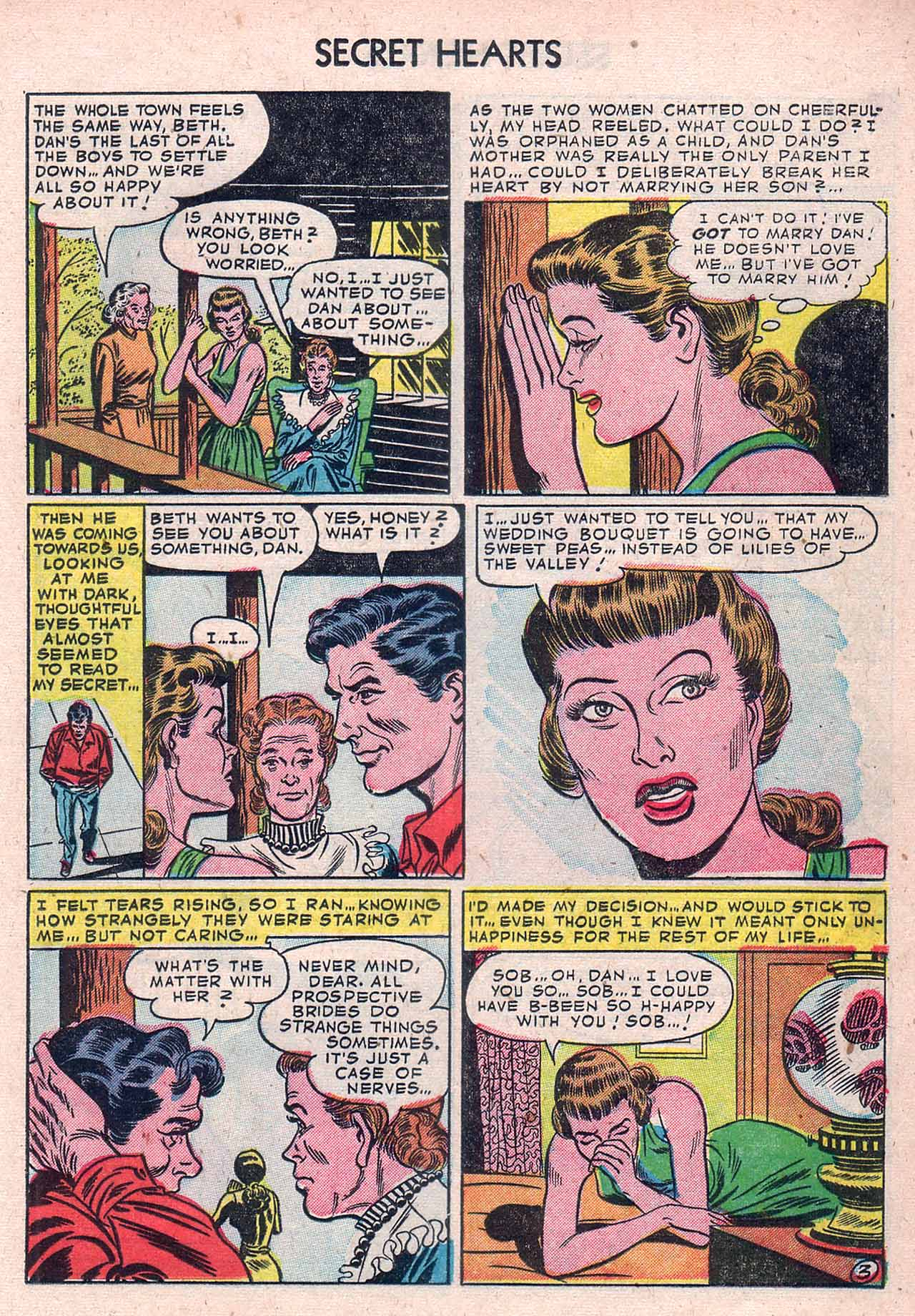 Read online Secret Hearts comic -  Issue #12 - 13