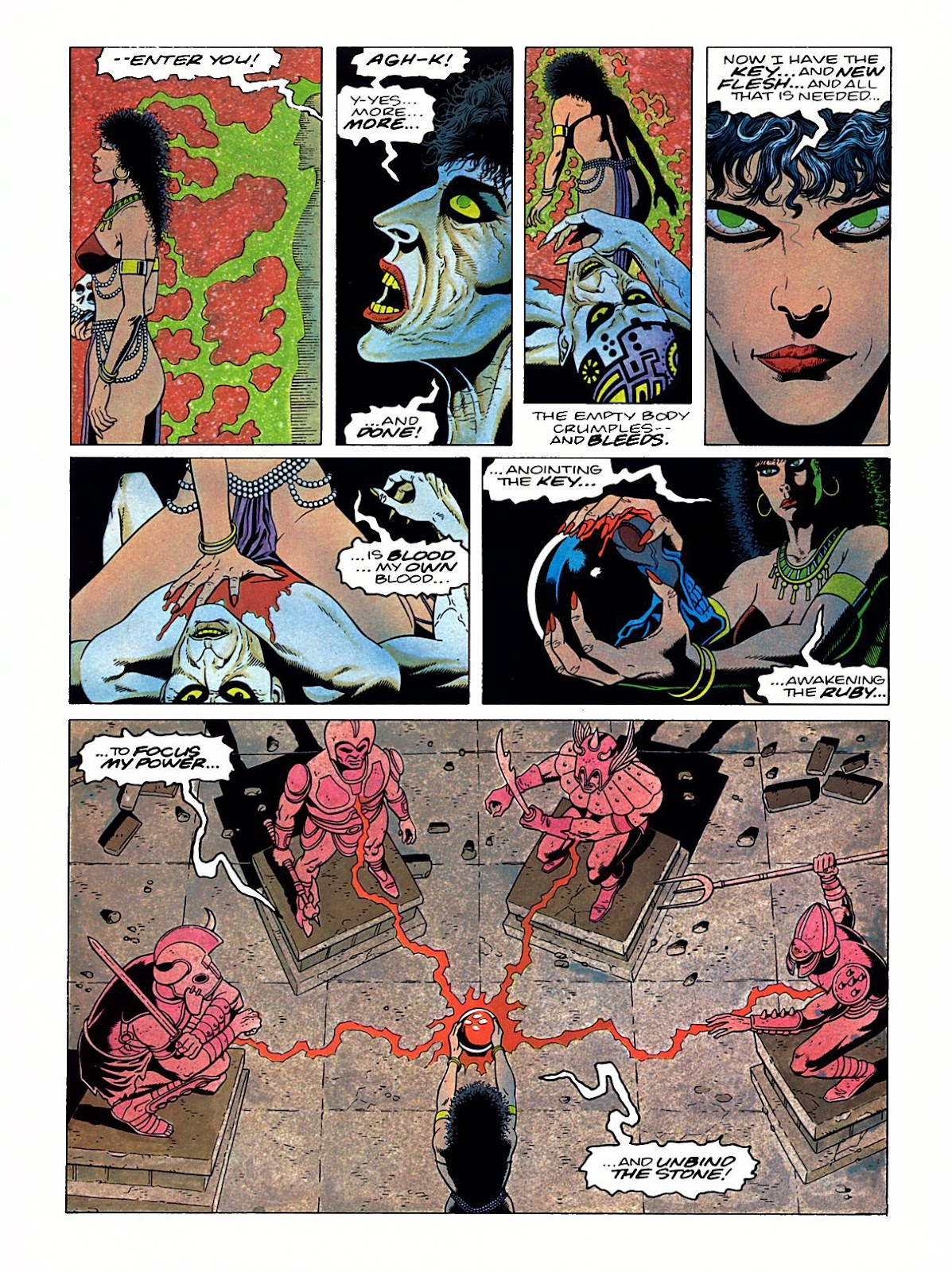 Read online Marvel Graphic Novel: Conan the Barbarian: The Skull of Set comic -  Issue # Full - 43