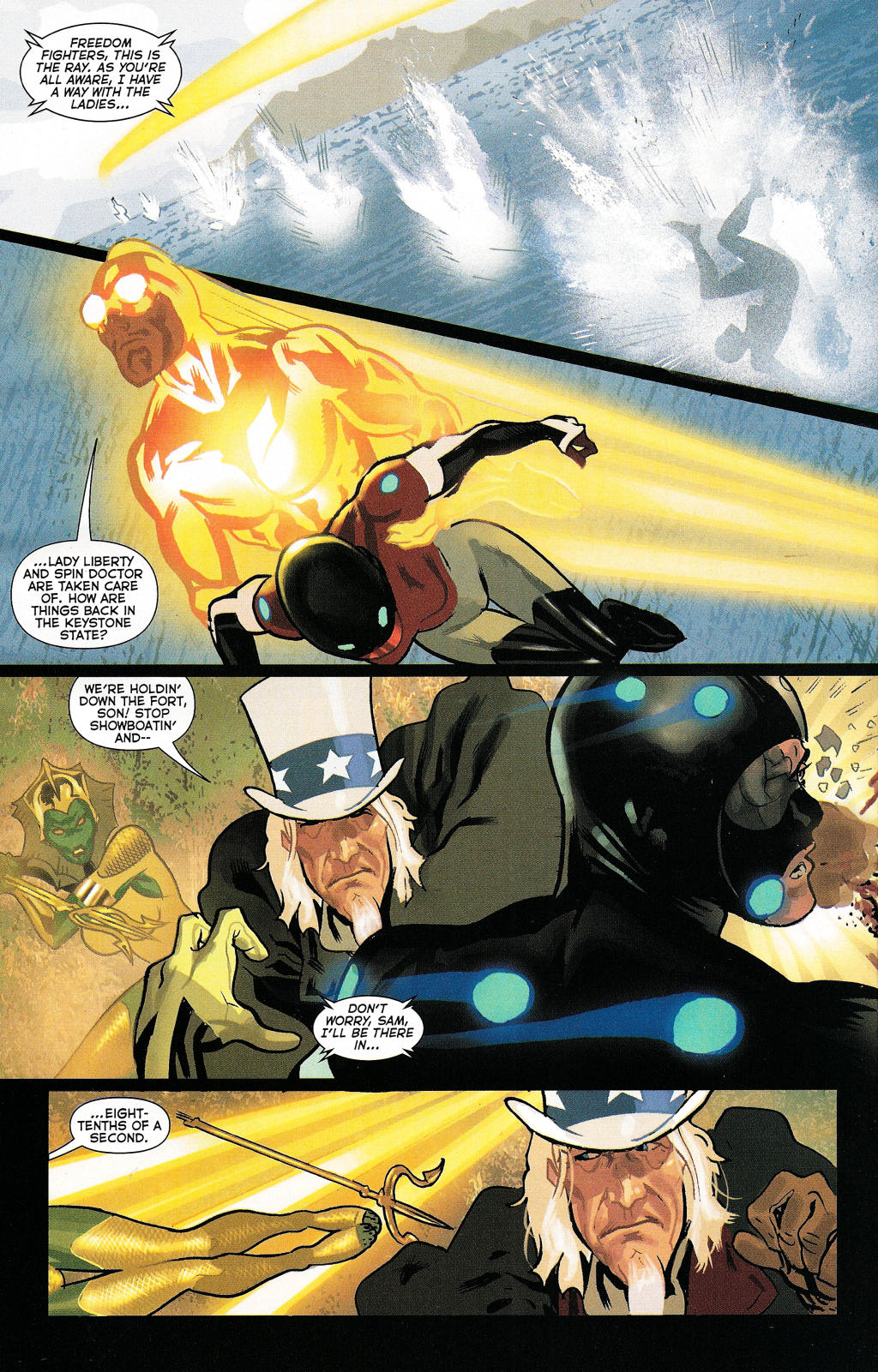 Read online Uncle Sam and the Freedom Fighters (2006) comic -  Issue #5 - 12