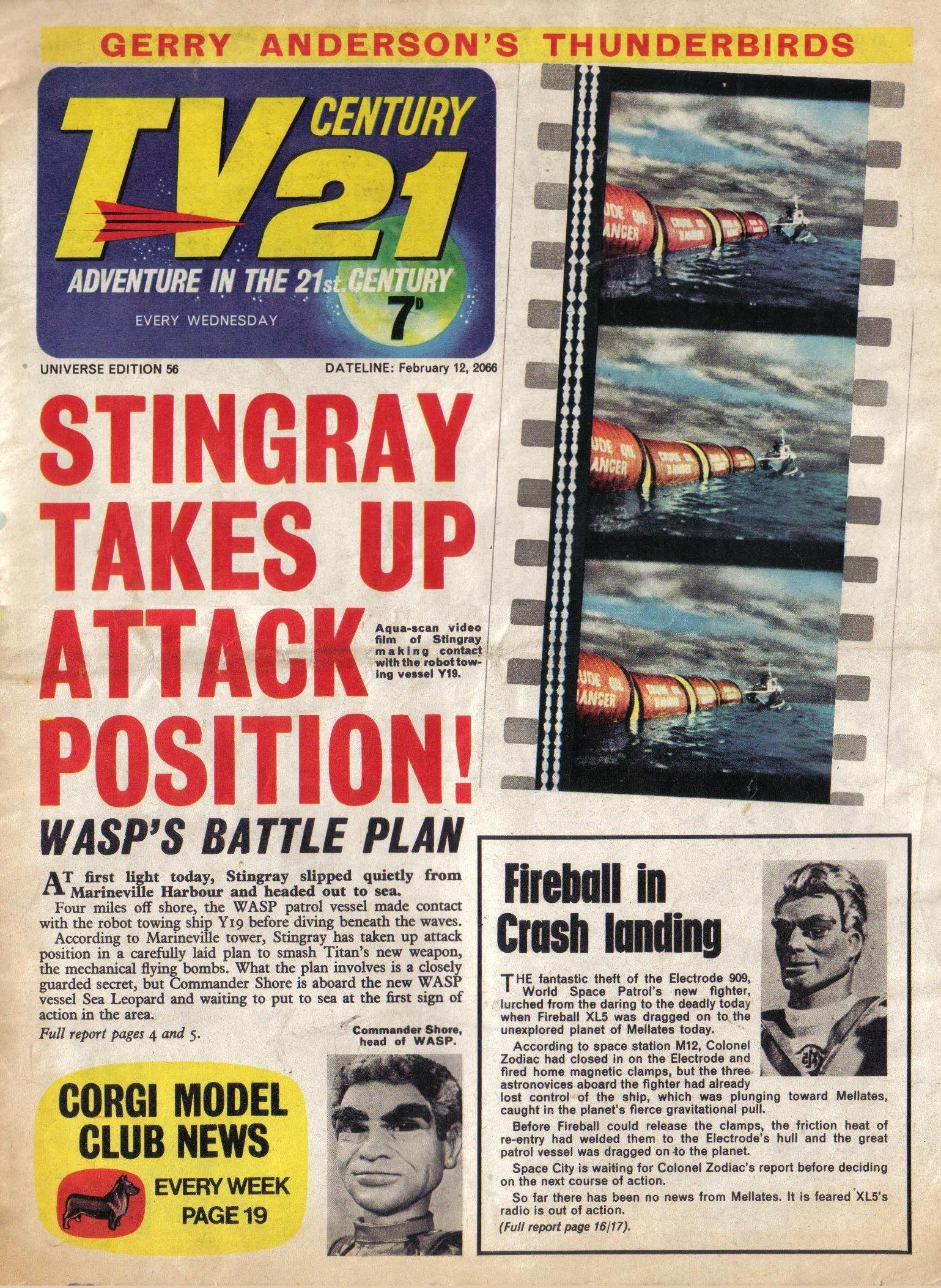 Read online TV Century 21 (TV 21) comic -  Issue #56 - 1