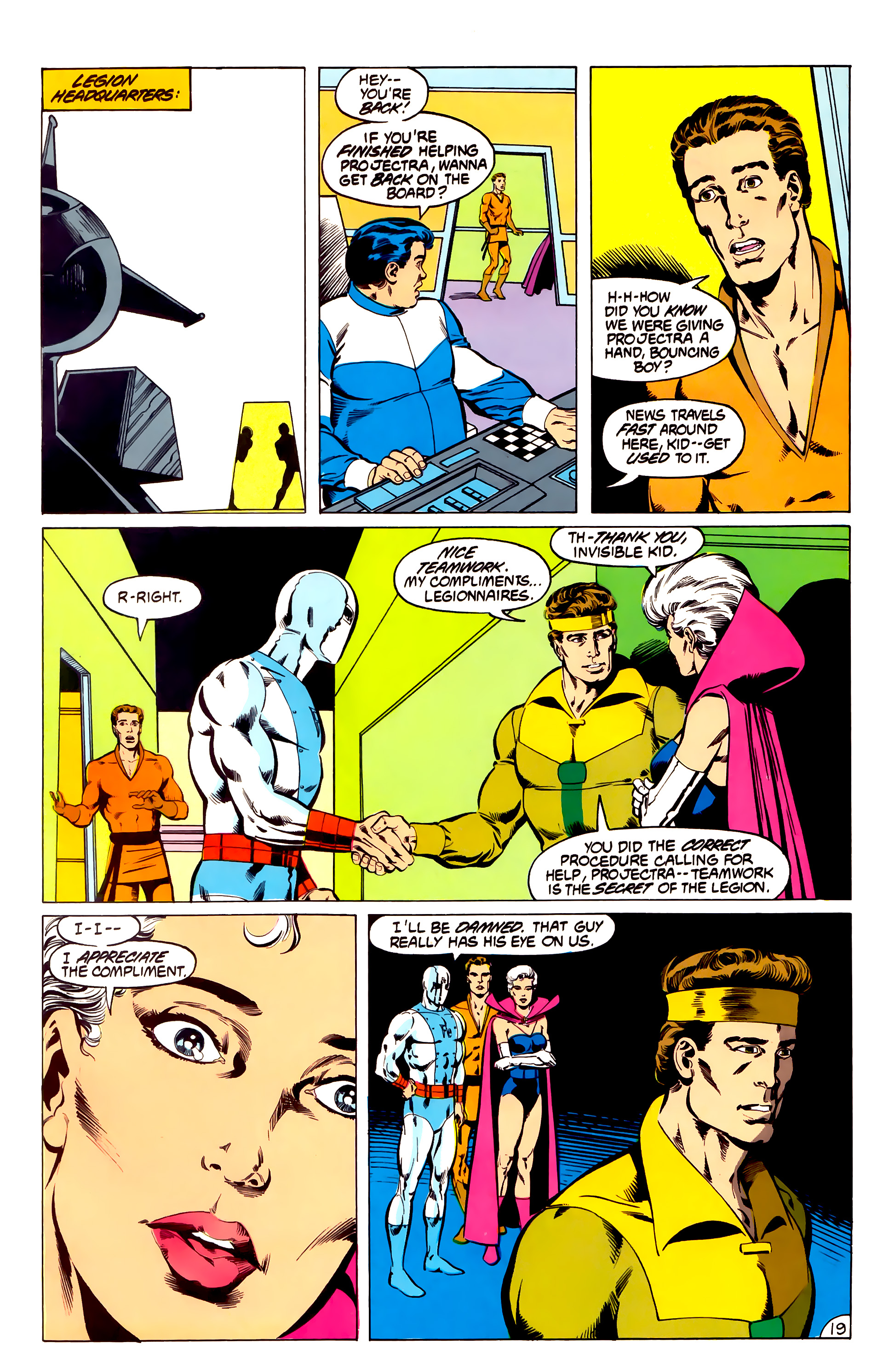 Legion of Super-Heroes (1984) 31 Page 19