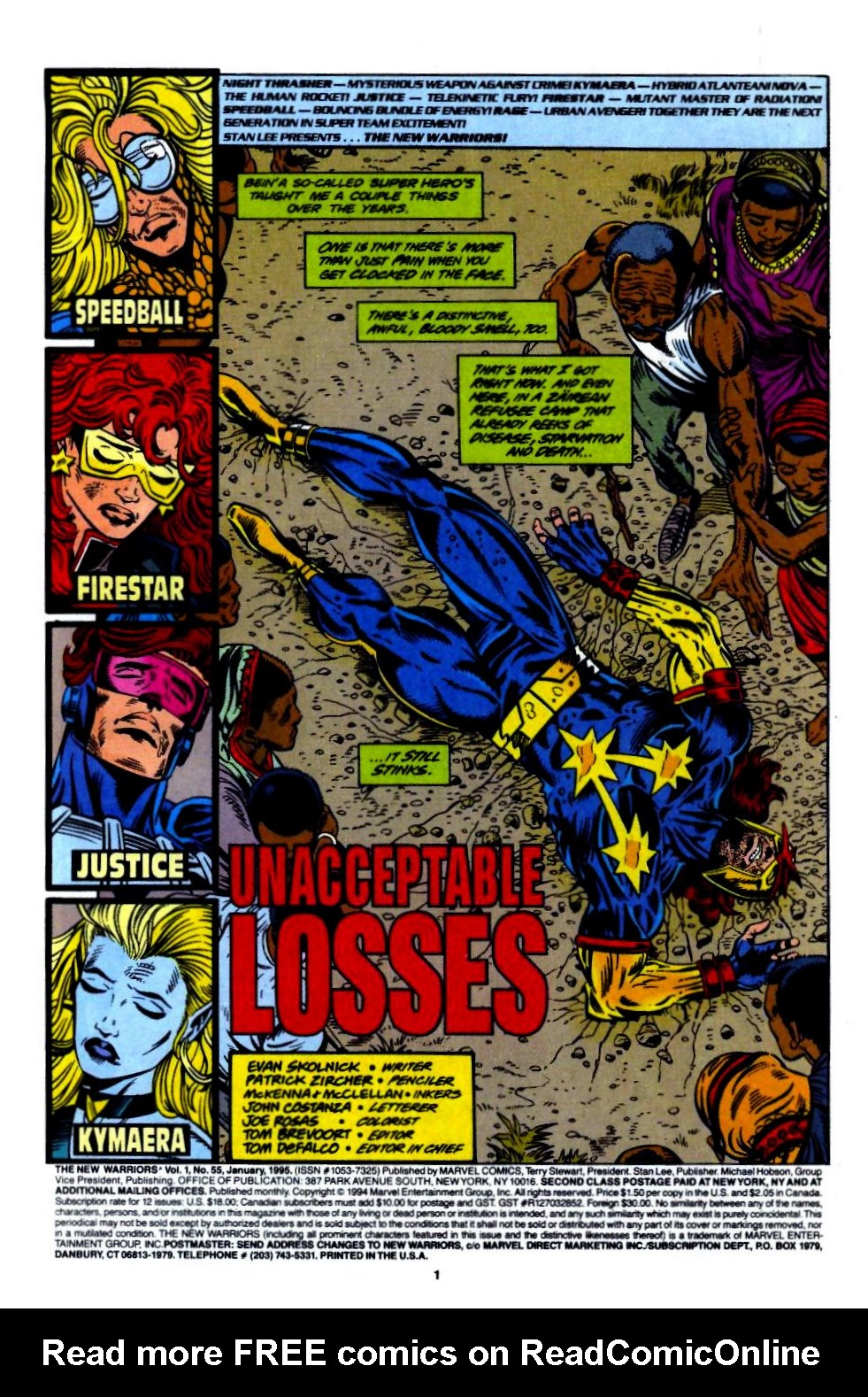 The New Warriors Issue #55 #59 - English 2