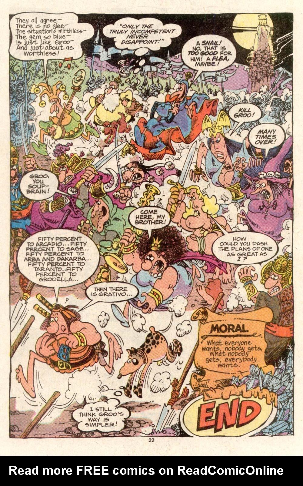 Read online Sergio Aragonés Groo the Wanderer comic -  Issue #47 - 24