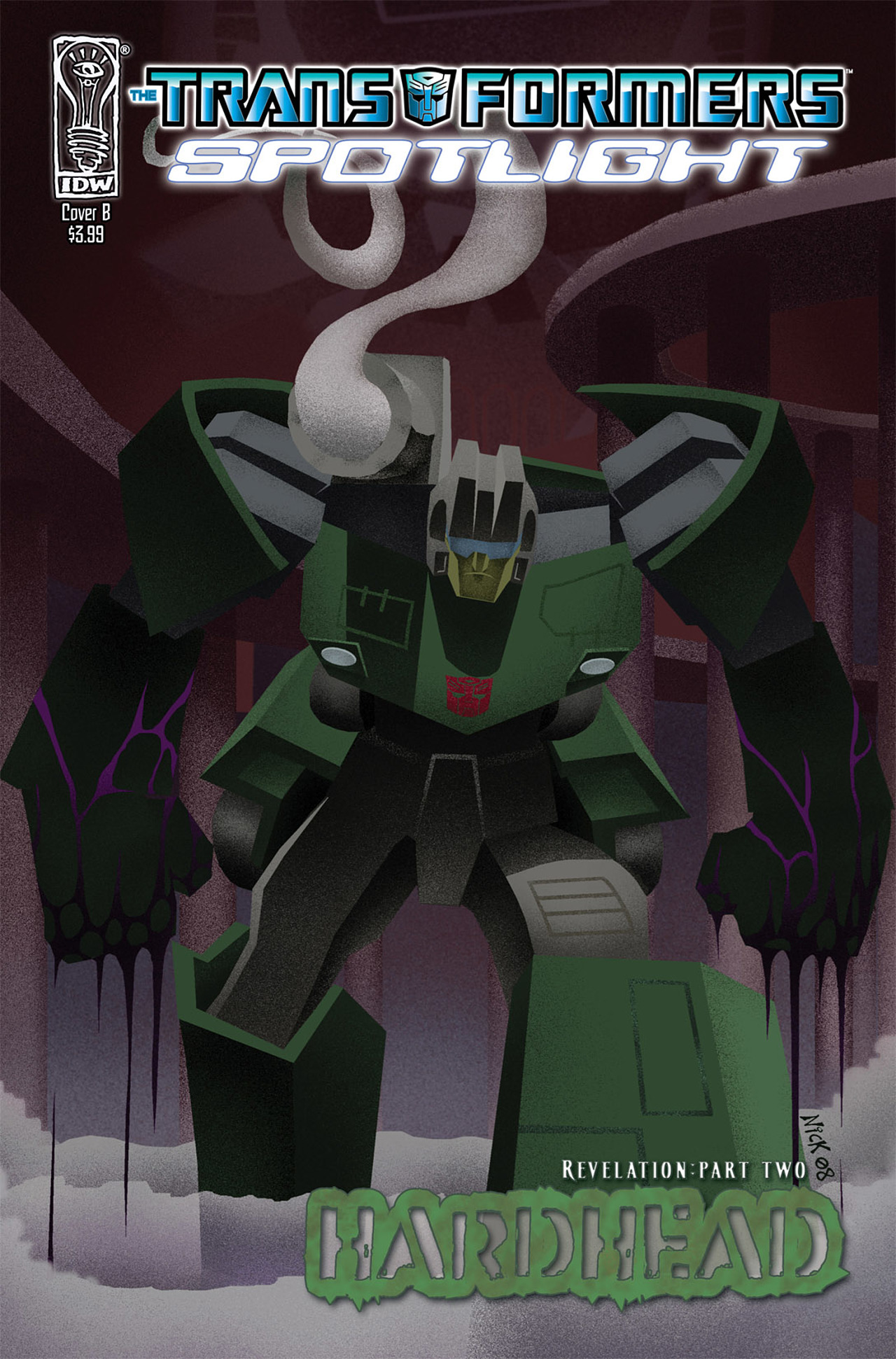 Read online Transformers Spotlight: Hardhead comic -  Issue # Full - 2