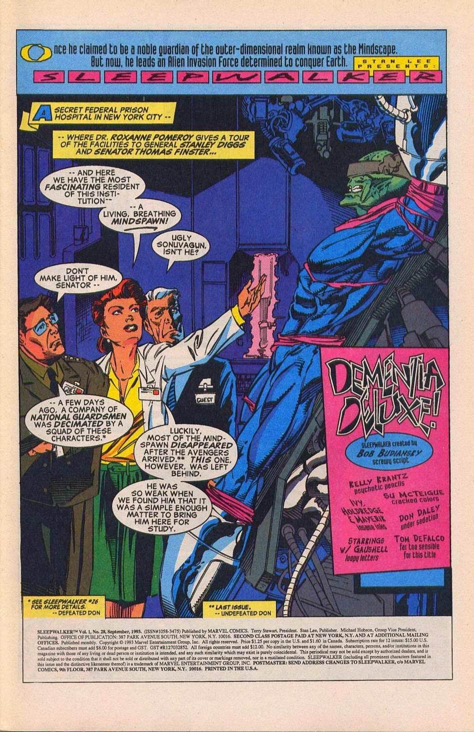 Read online Sleepwalker comic -  Issue #28 - 2