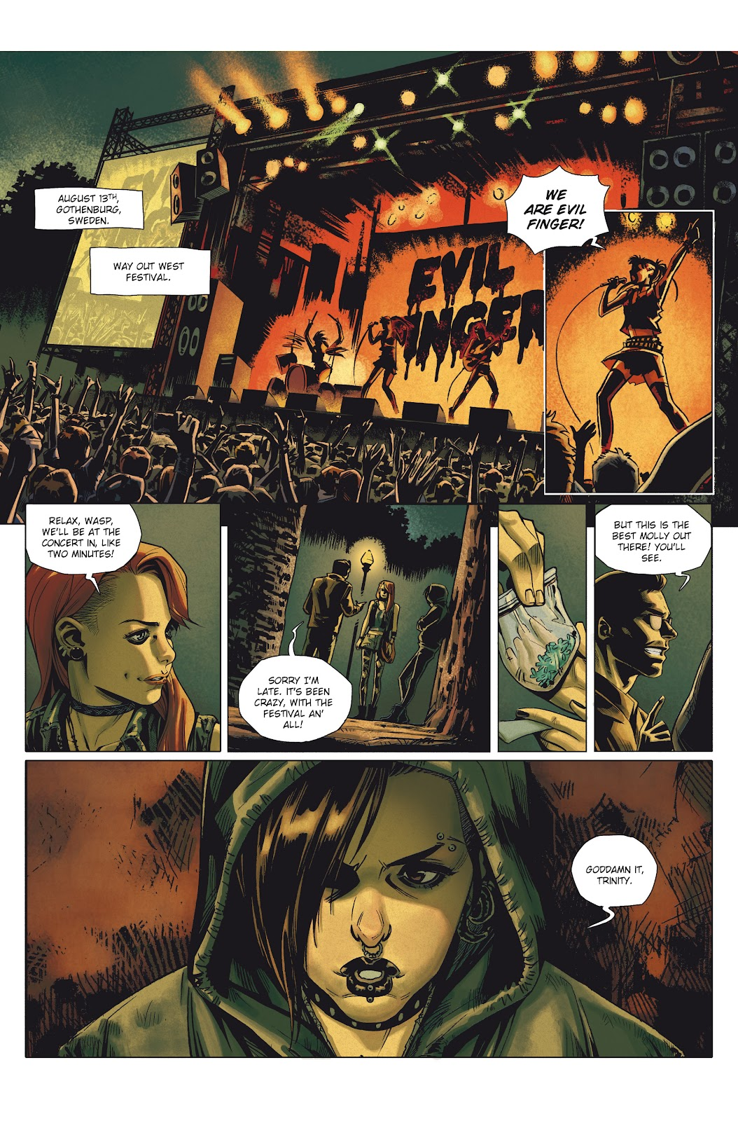 Read online Millennium: The Girl Who Danced With Death comic -  Issue #1 - 4