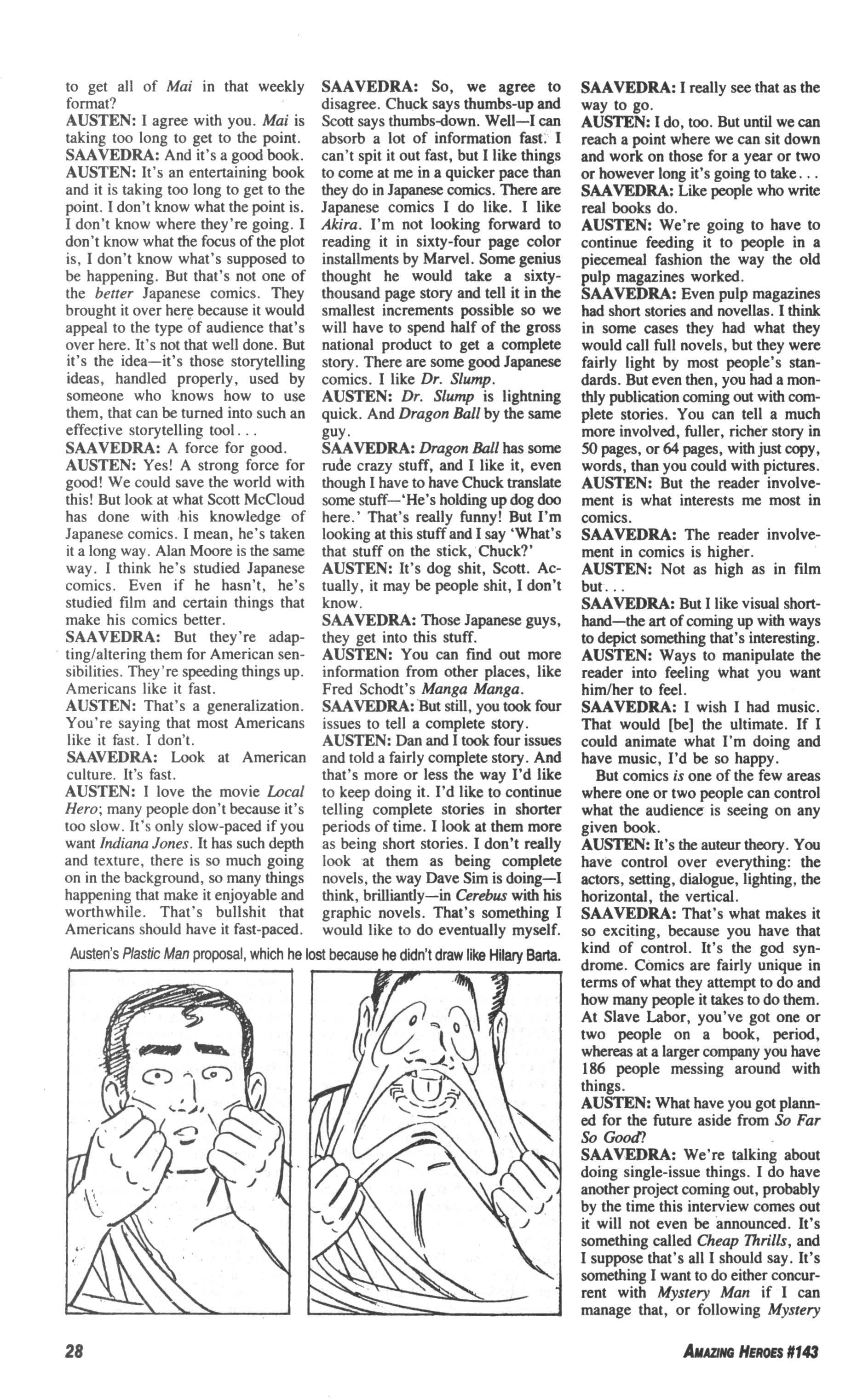 Read online Amazing Heroes comic -  Issue #143 - 28