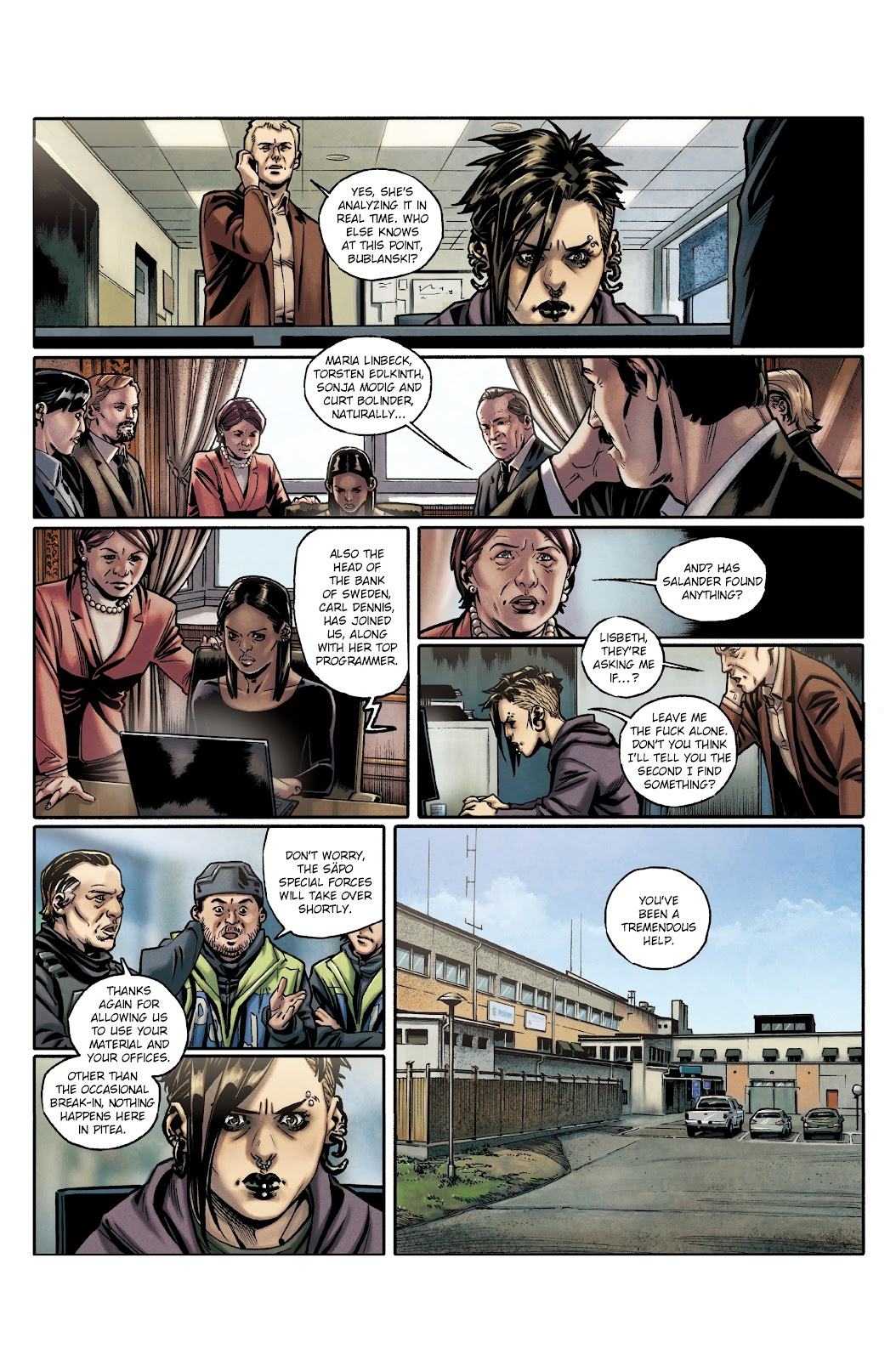 Read online Millennium: The Girl Who Danced With Death comic -  Issue #3 - 40
