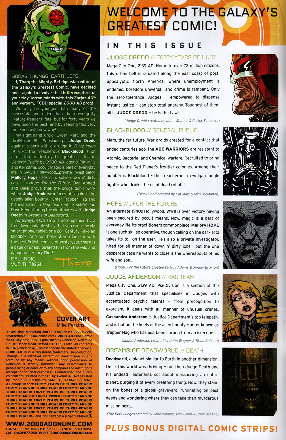 Read online Free Comic Book Day 2017 comic -  Issue # 2000 AD prog - 2