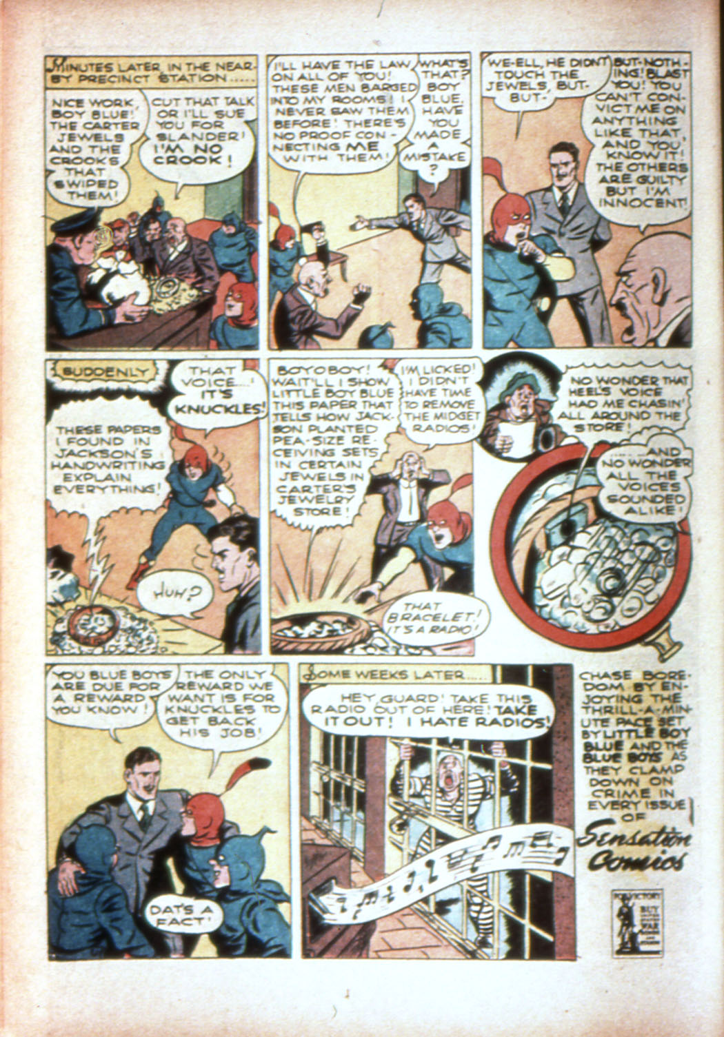 Read online Sensation (Mystery) Comics comic -  Issue #19 - 22