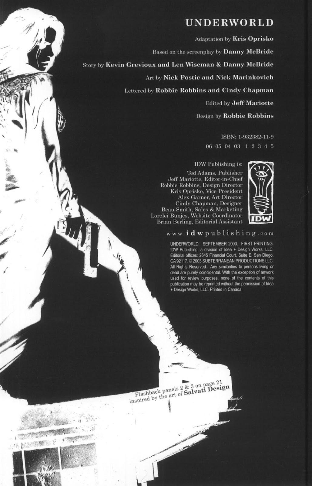 Read online Underworld (2003) comic -  Issue # Full - 2