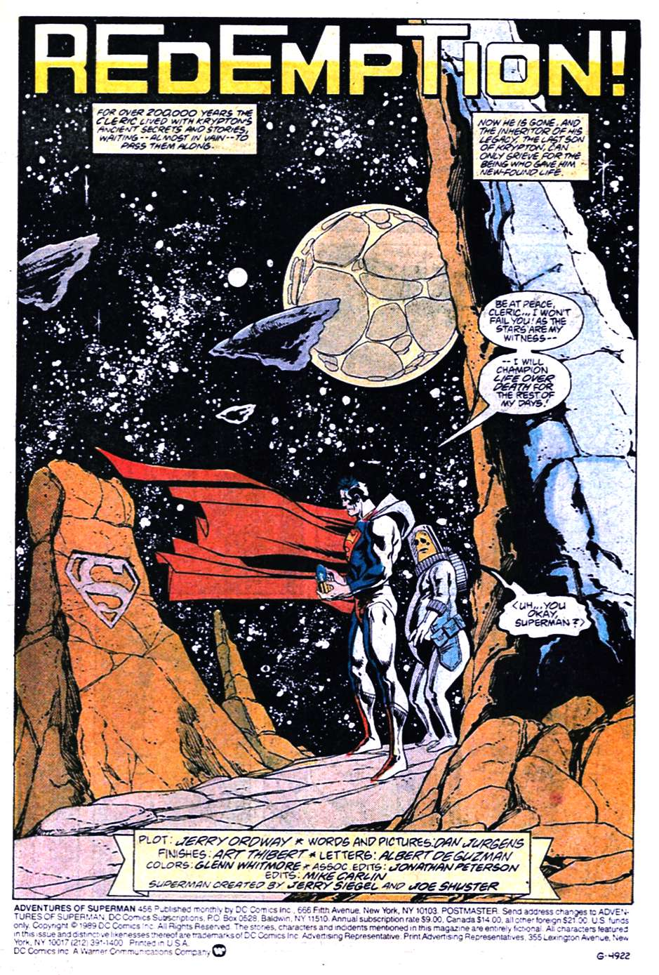 Read online Adventures of Superman (1987) comic -  Issue #456 - 2