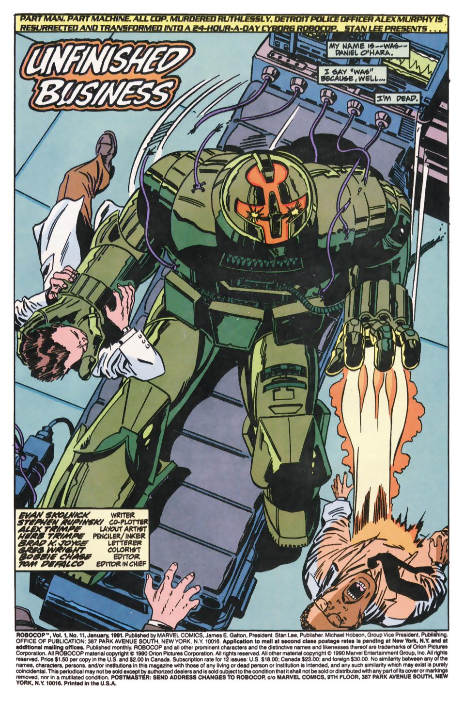 Read online Robocop (1990) comic -  Issue #11 - 2