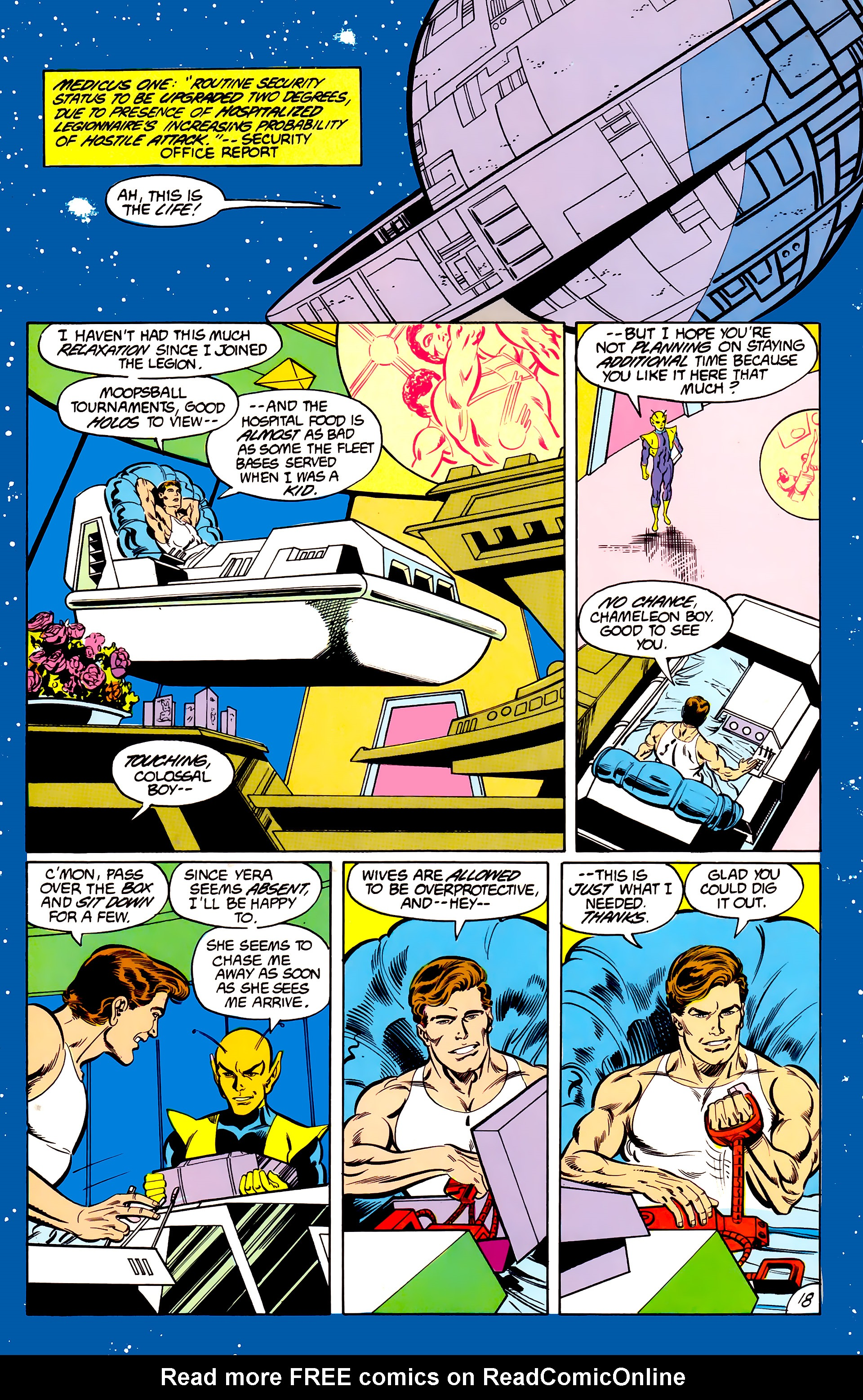 Legion of Super-Heroes (1984) 42 Page 18