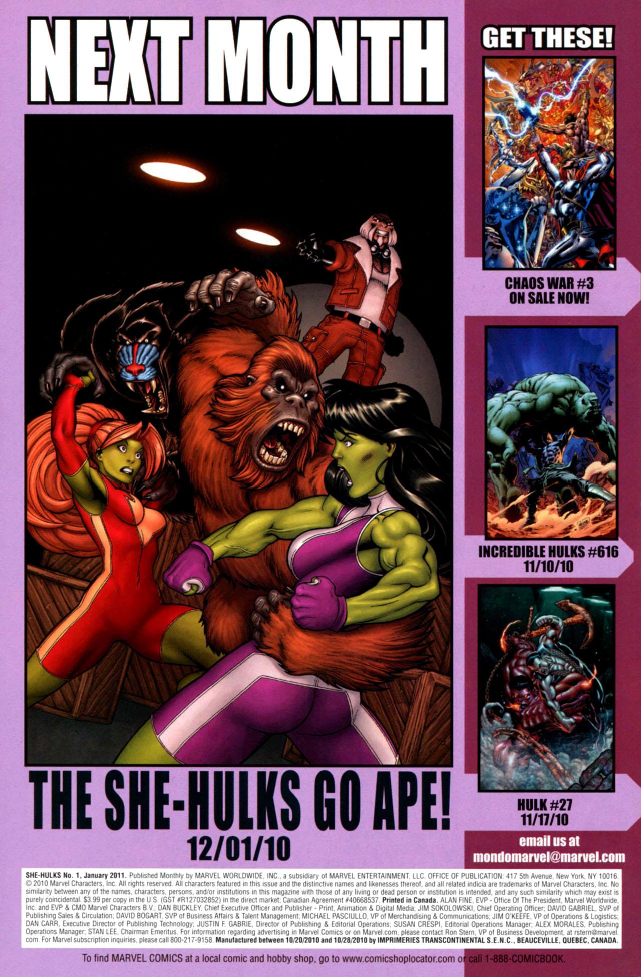 Read online She-Hulks comic -  Issue #1 - 30