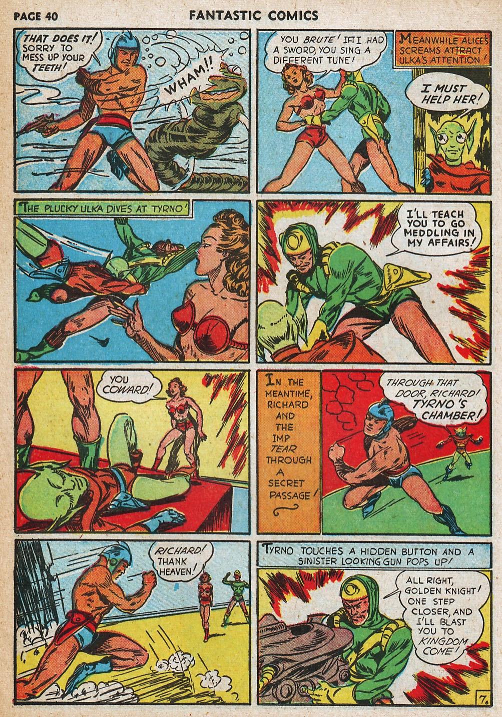 Read online Fantastic Comics comic -  Issue #20 - 40