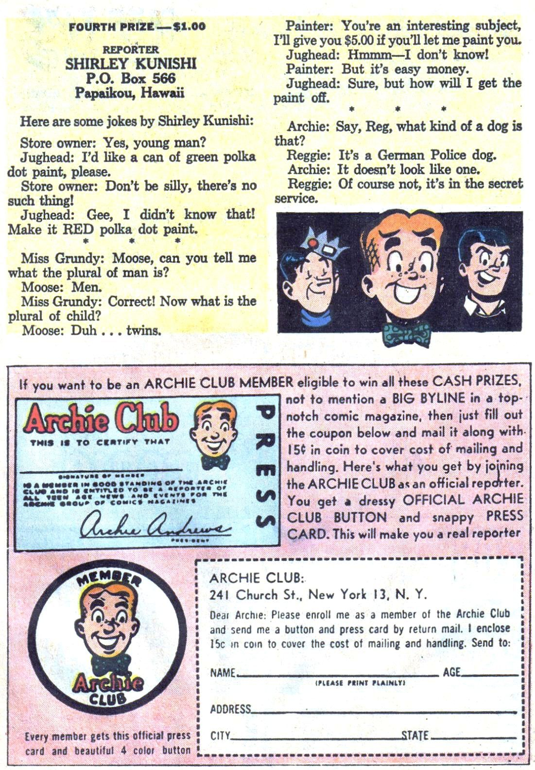 Read online Archie (1960) comic -  Issue #126 - 27