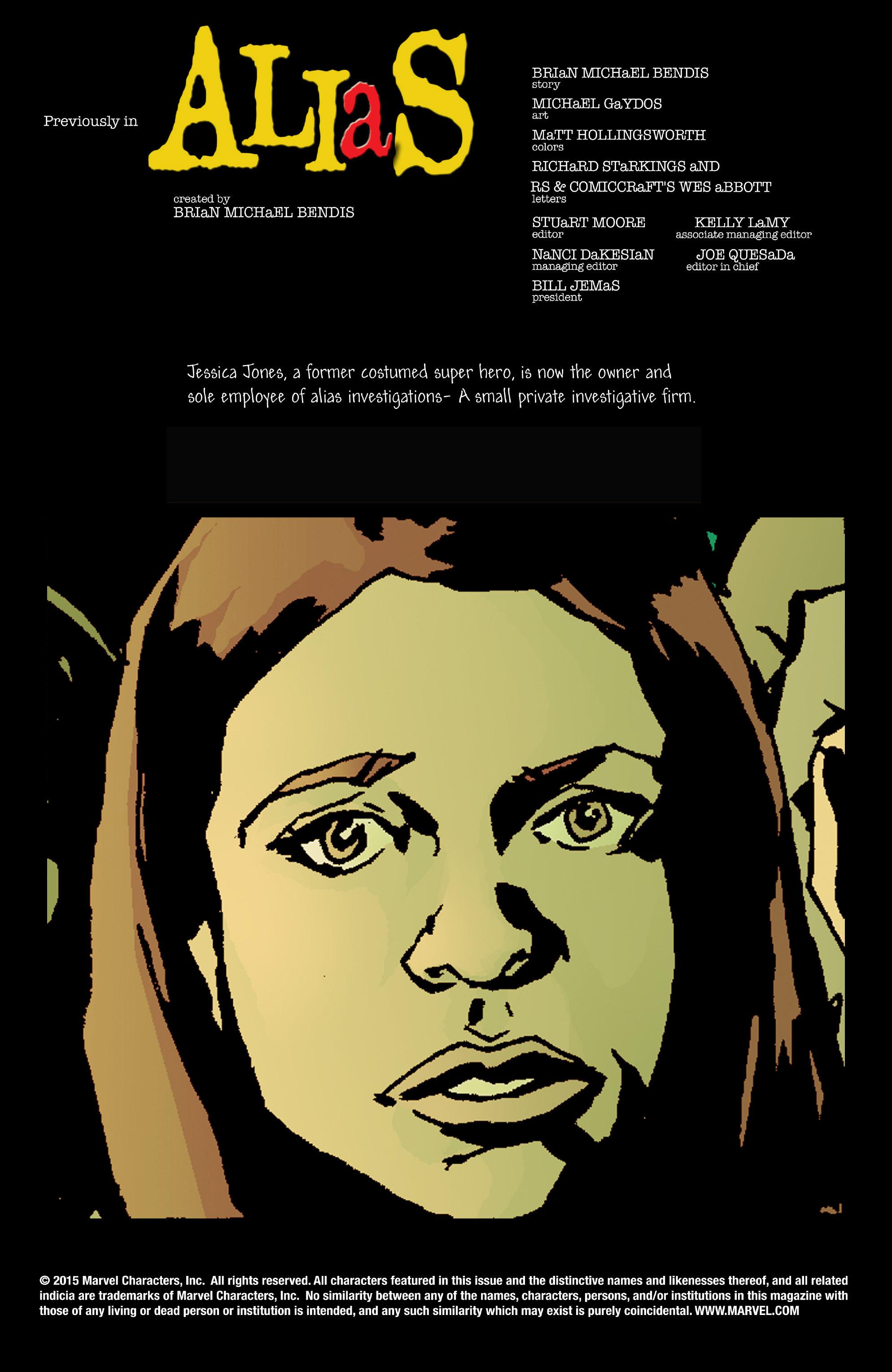 Read online Alias comic -  Issue #3 - 2