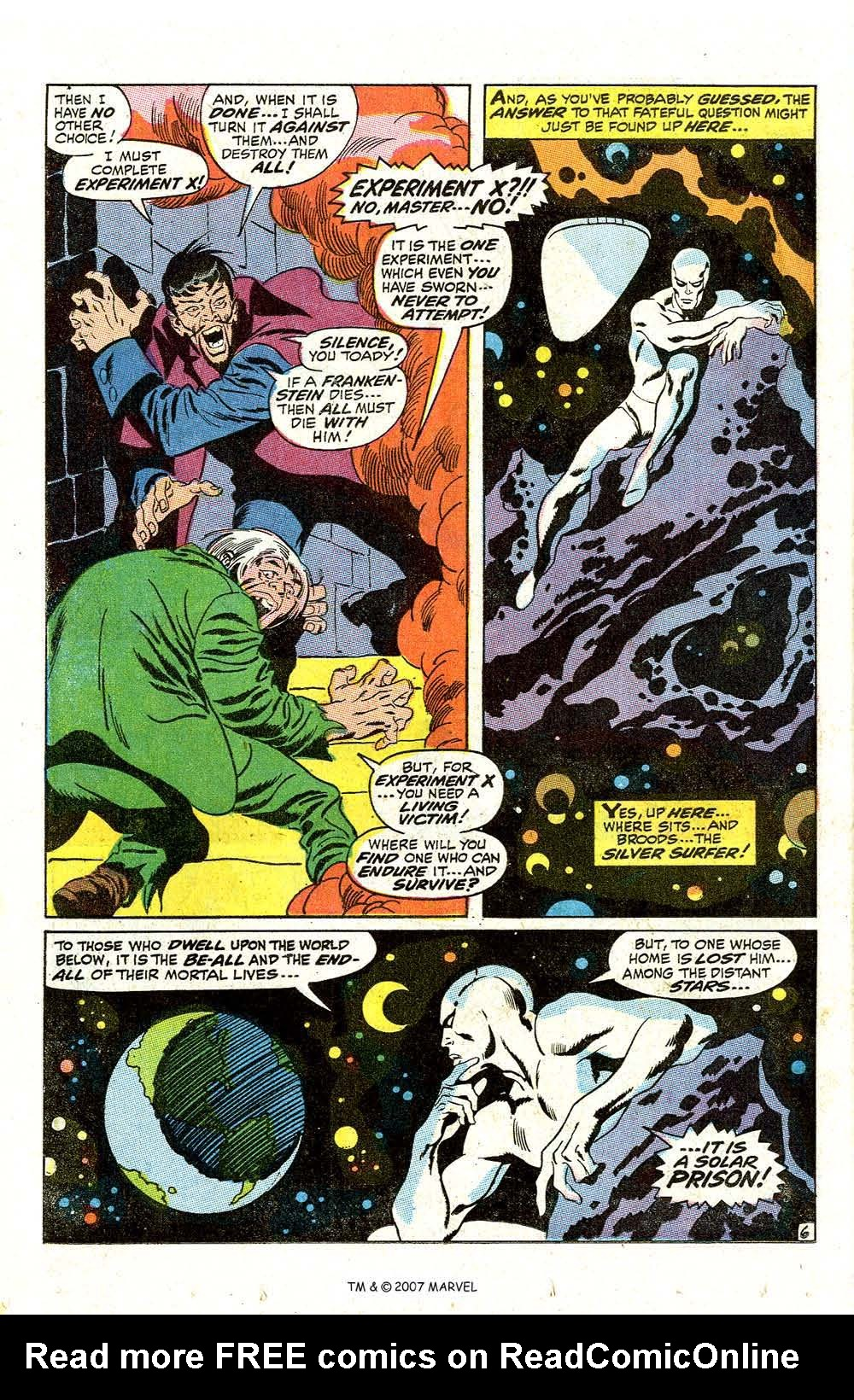 Read online Silver Surfer (1968) comic -  Issue #7 - 8