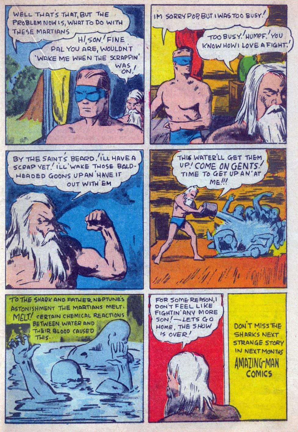 Read online Amazing Man Comics comic -  Issue #15 - 42