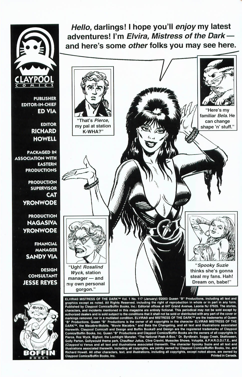 Read online Elvira, Mistress of the Dark comic -  Issue #117 - 2