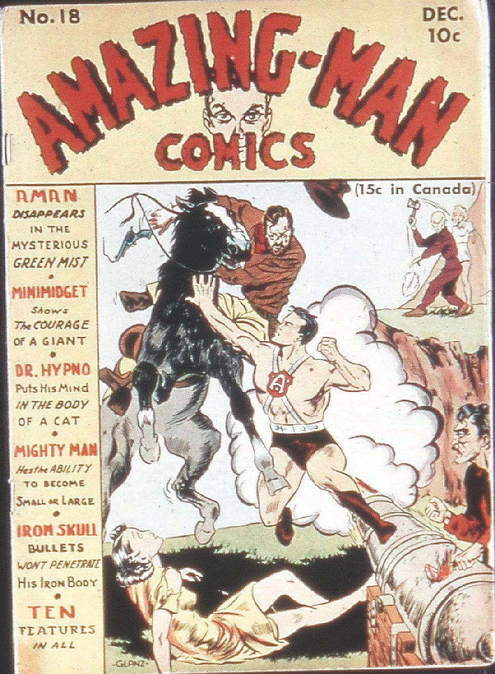 Read online Amazing Man Comics comic -  Issue #18 - 1