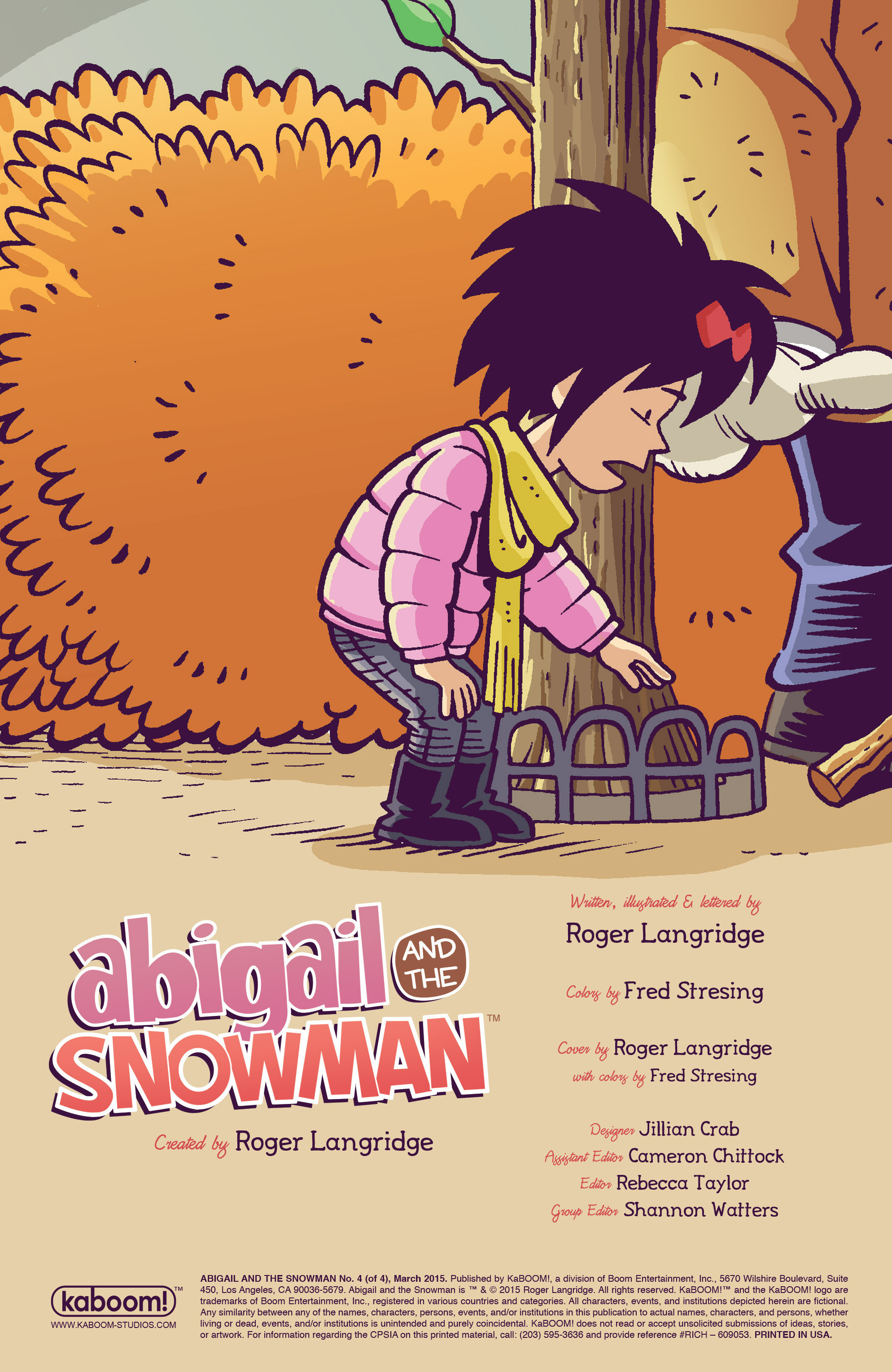 Read online Abigail And The Snowman comic -  Issue #4 - 2