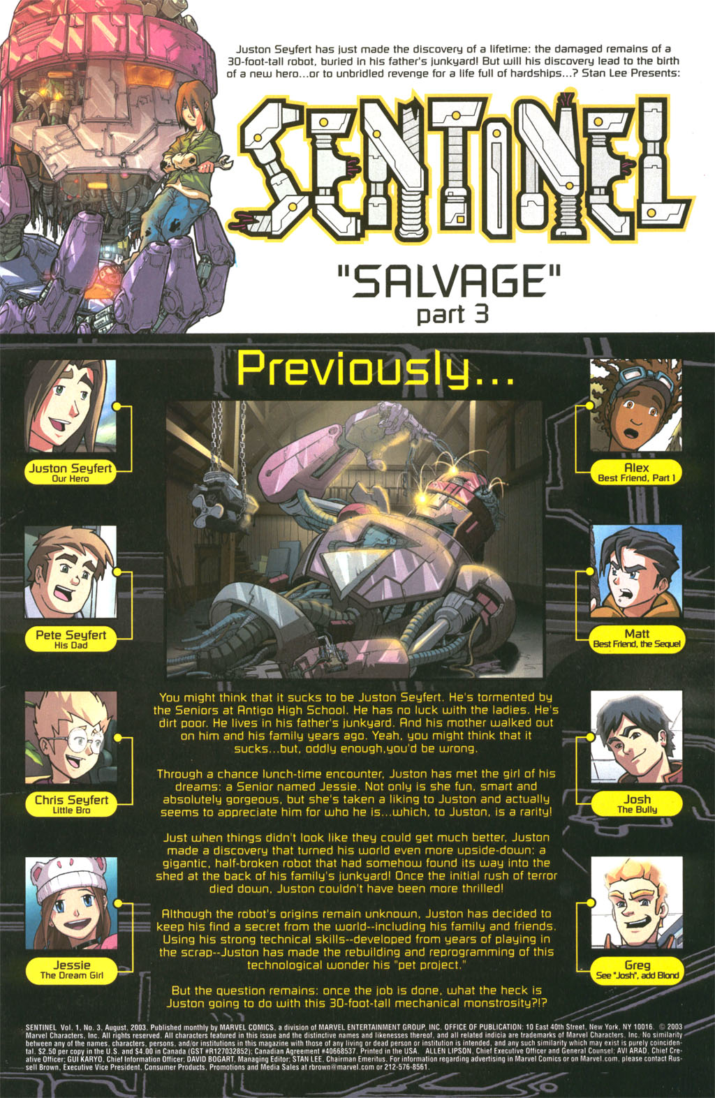 Read online Sentinel comic -  Issue #3 - 2