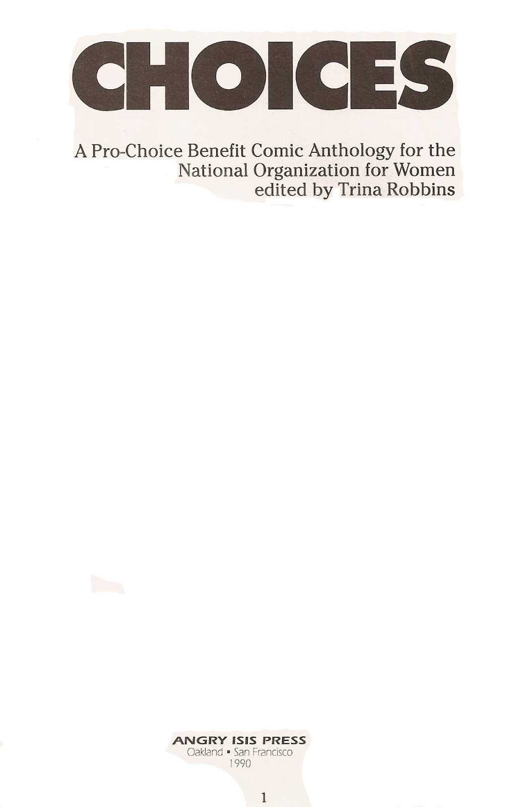 Read online Choices comic -  Issue # Full - 3