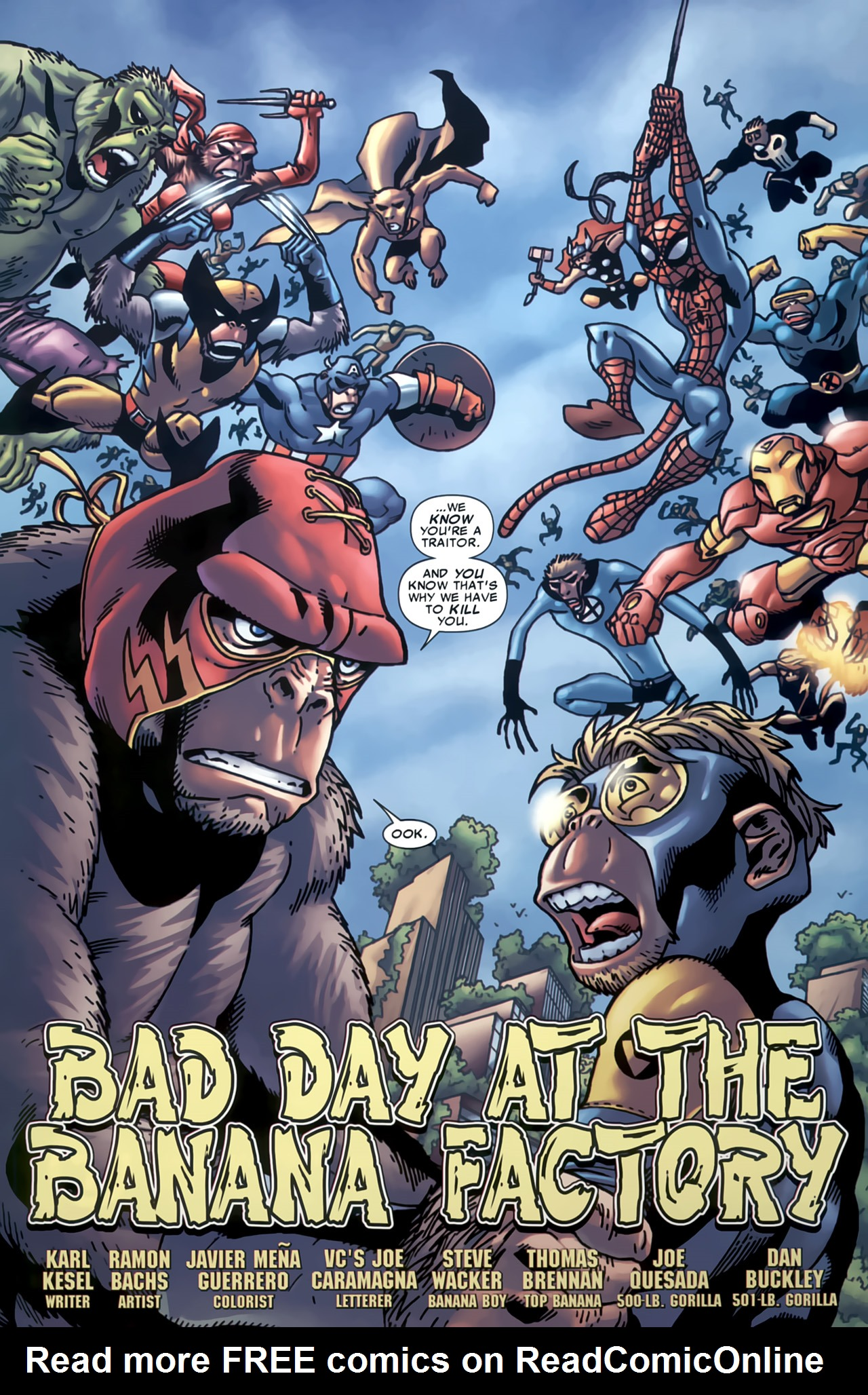 Read online Marvel Apes: Speedball Special comic -  Issue # Full - 6