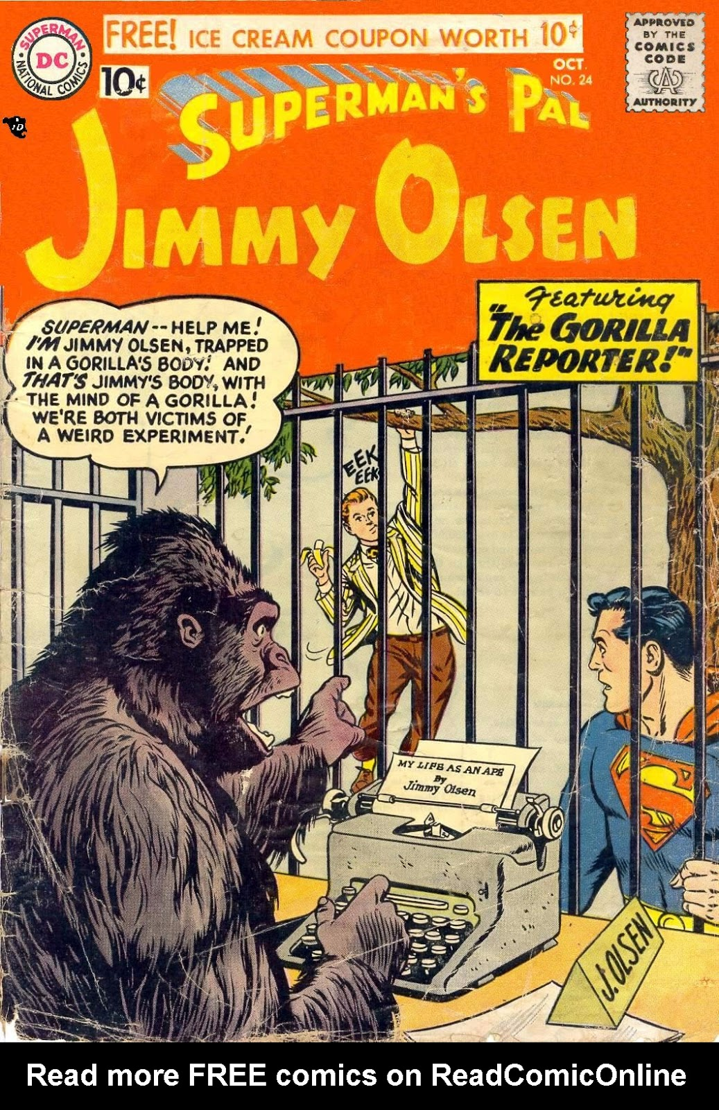 Supermans Pal Jimmy Olsen (1954) 24 Page 1