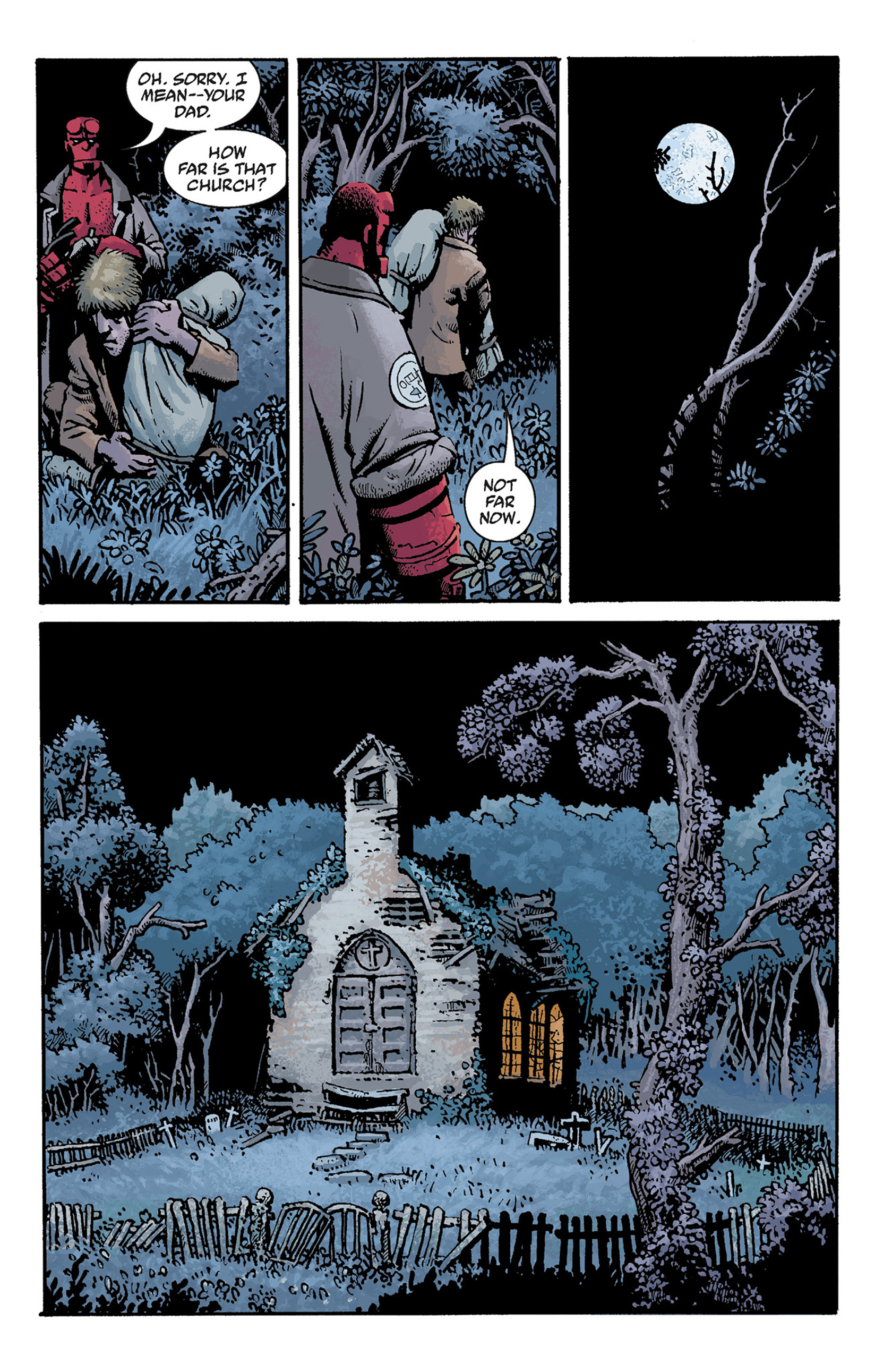 Read online Hellboy: The Crooked Man and Others comic -  Issue # TPB - 49