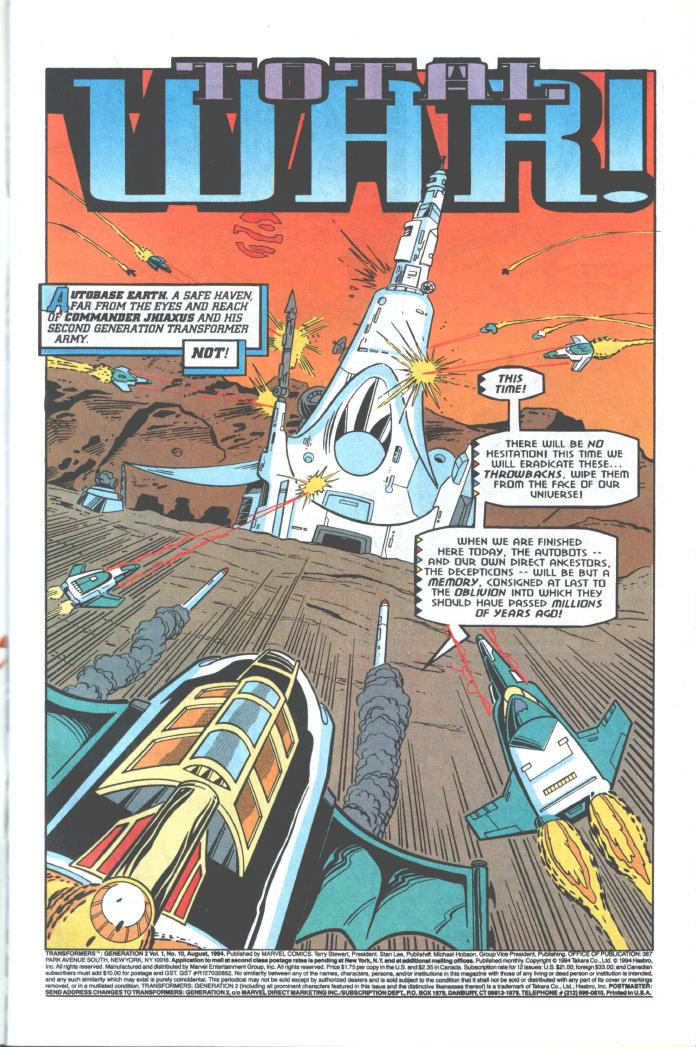 Read online Transformers: Generation 2 comic -  Issue #10 - 2