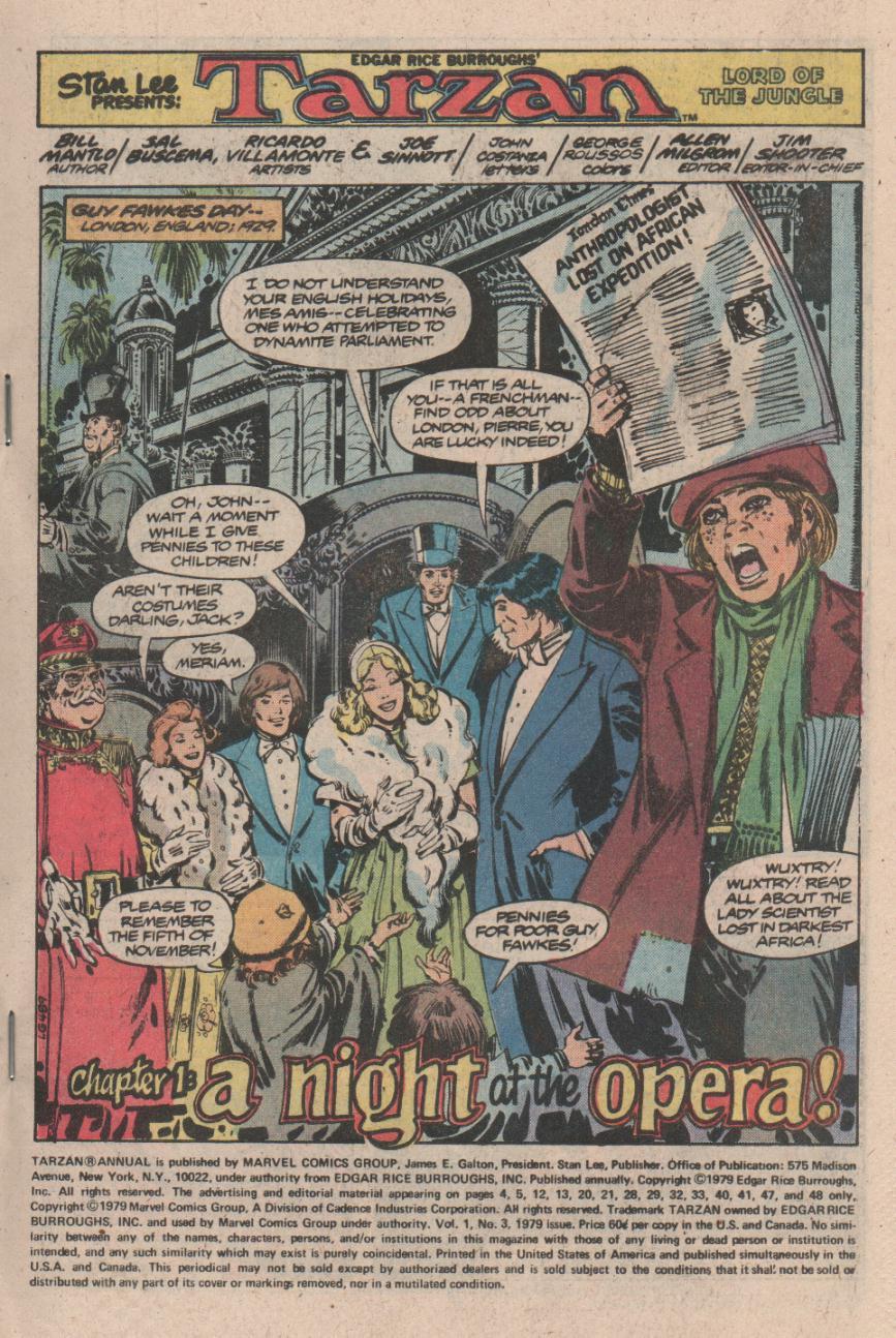 Read online Tarzan (1977) comic -  Issue # _Annual 3 - 2