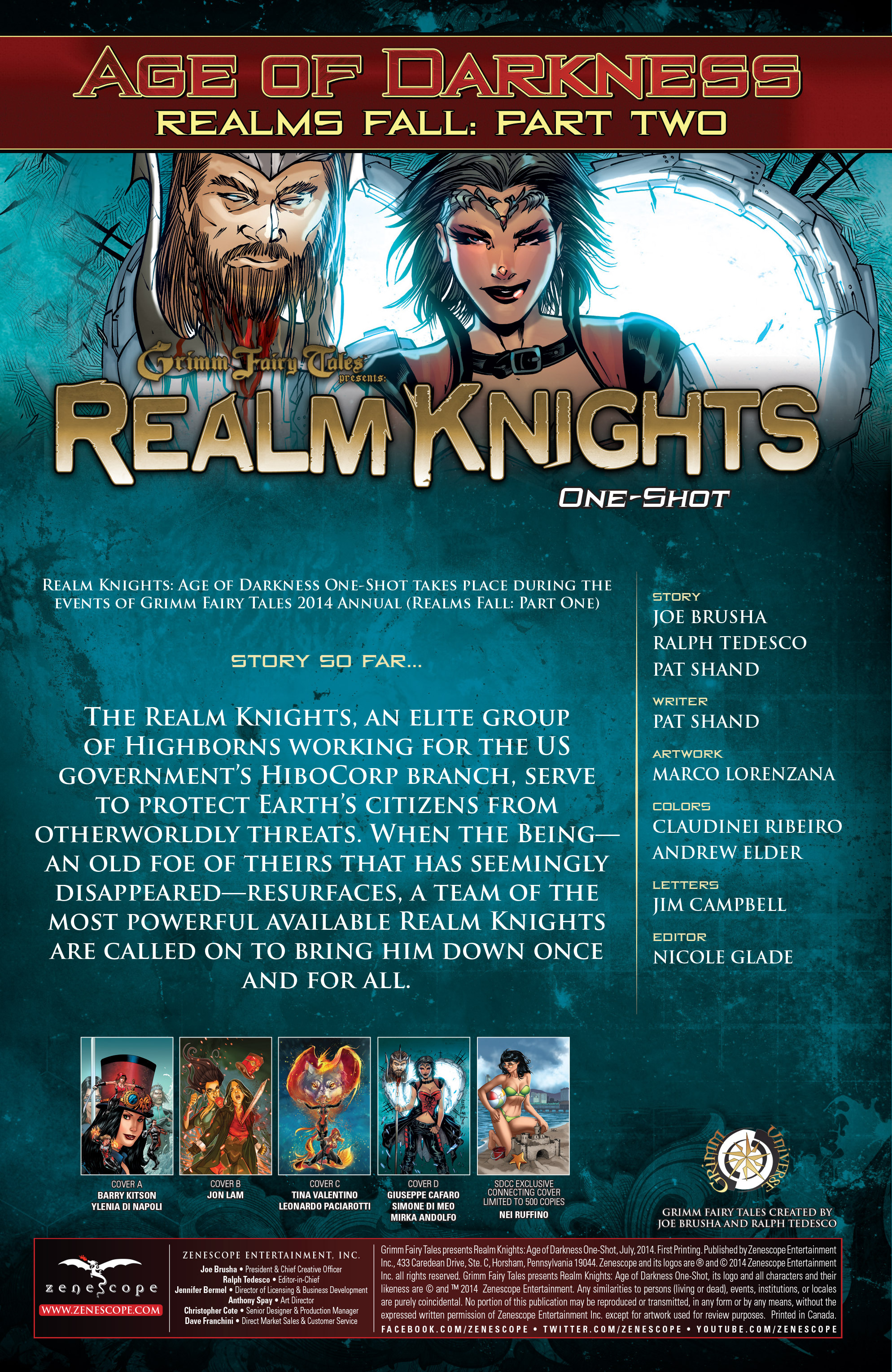 Read online Grimm Fairy Tales presents Realm Knights: Age of Darkness comic -  Issue # Full - 2