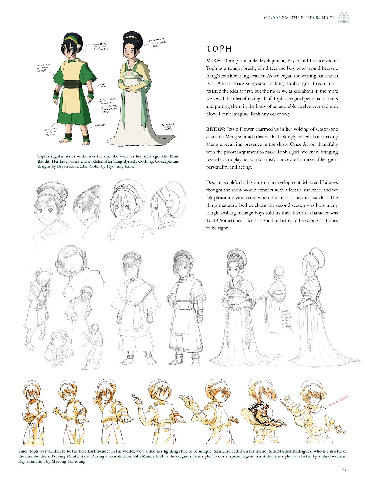 Read online Avatar: The Last Airbender - The Art of the Animated Series comic -  Issue # TPB (Part 1) - 96