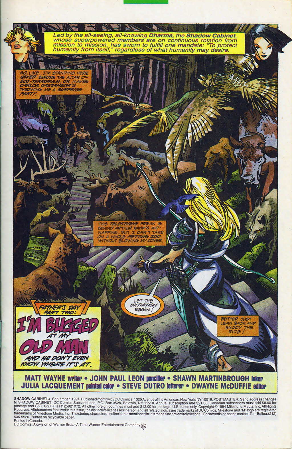 Read online Shadow Cabinet comic -  Issue #4 - 2