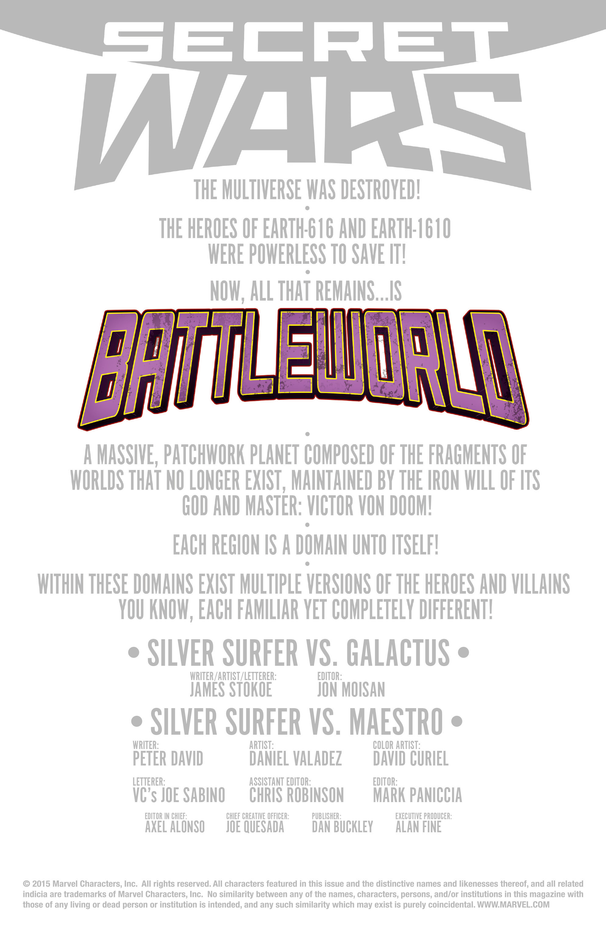 Read online Secret Wars Journal/Battleworld comic -  Issue # TPB - 188