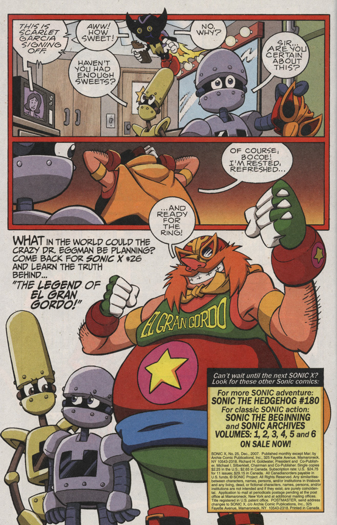 Read online Sonic X comic -  Issue #25 - 34