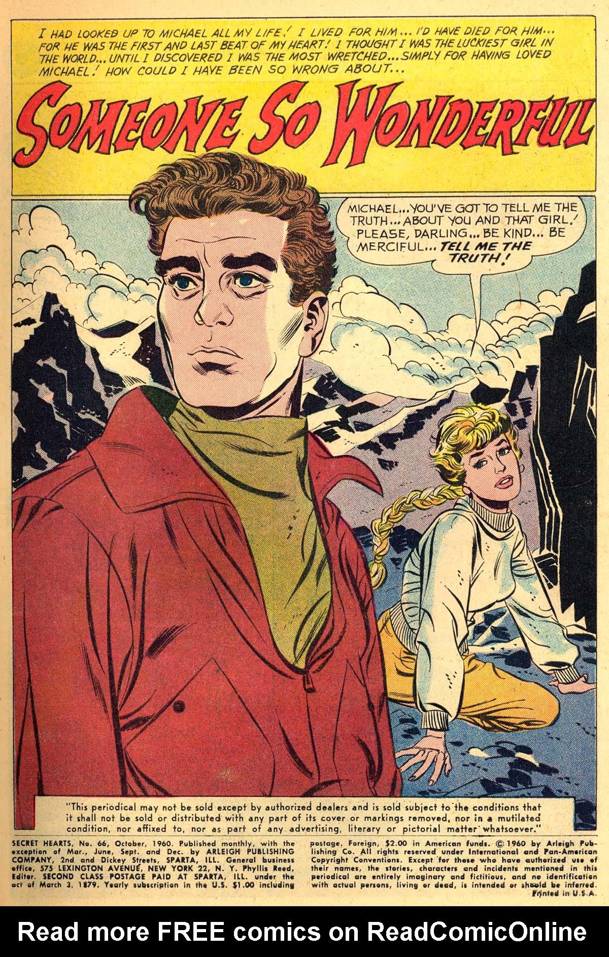 Read online Secret Hearts comic -  Issue #66 - 3