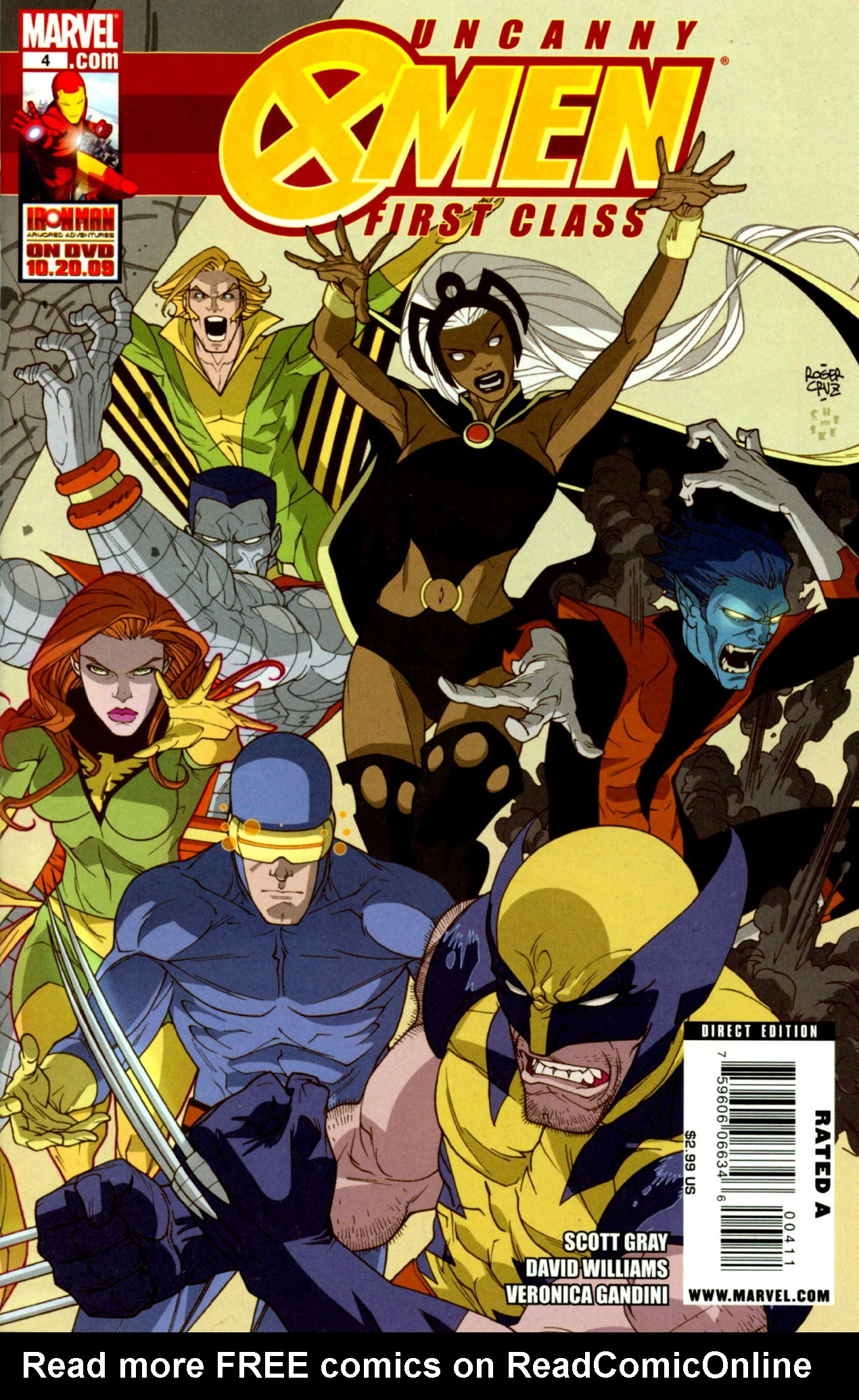 Read online Uncanny X-Men: First Class comic -  Issue #4 - 1