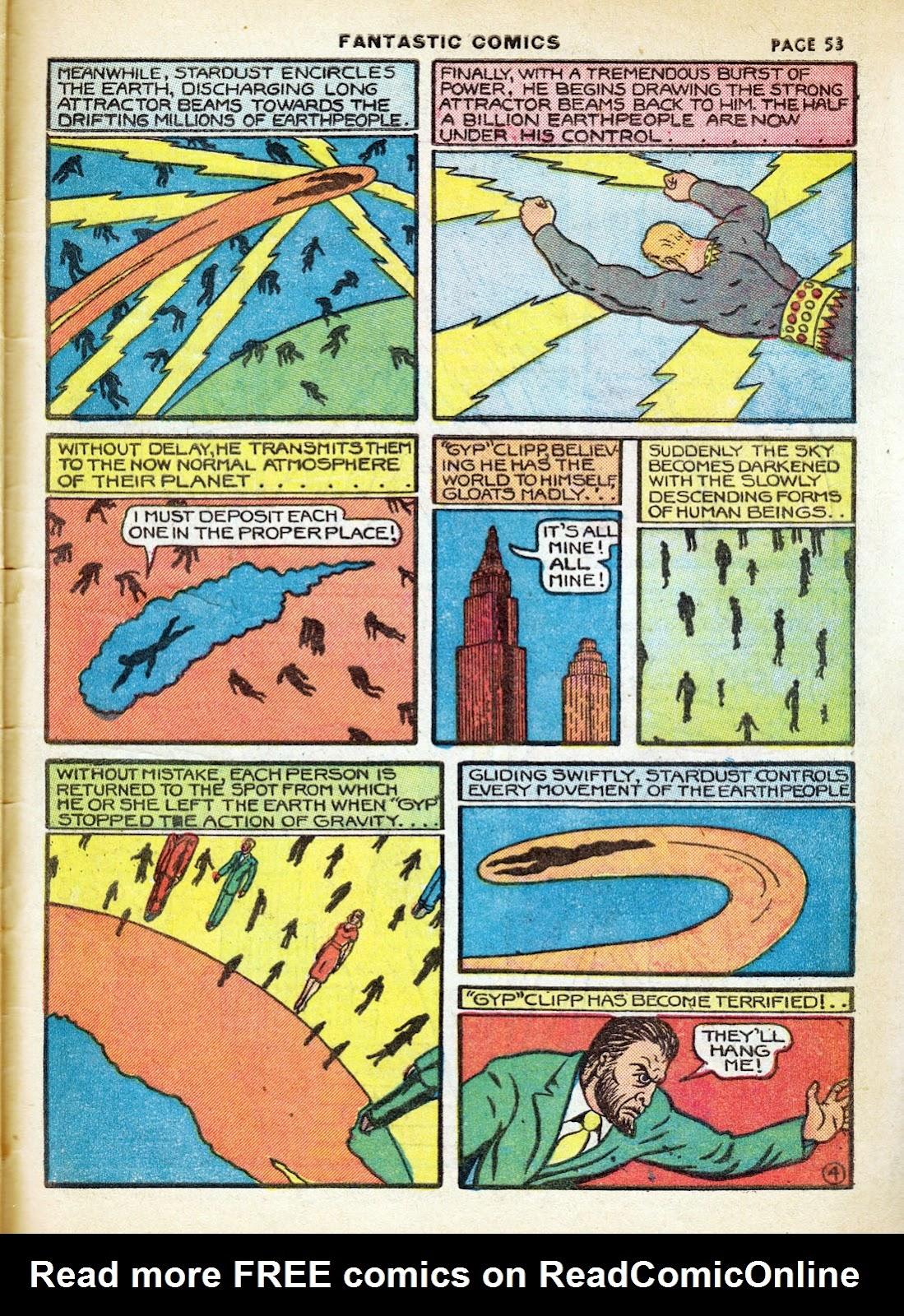 Read online Fantastic Comics comic -  Issue #7 - 55