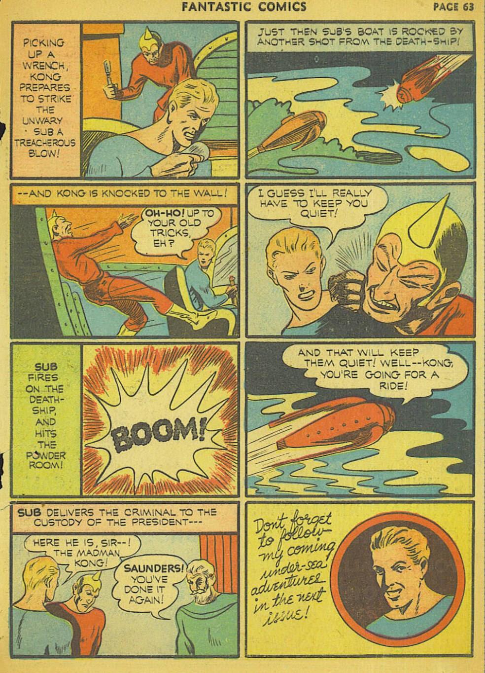 Read online Fantastic Comics comic -  Issue #15 - 59