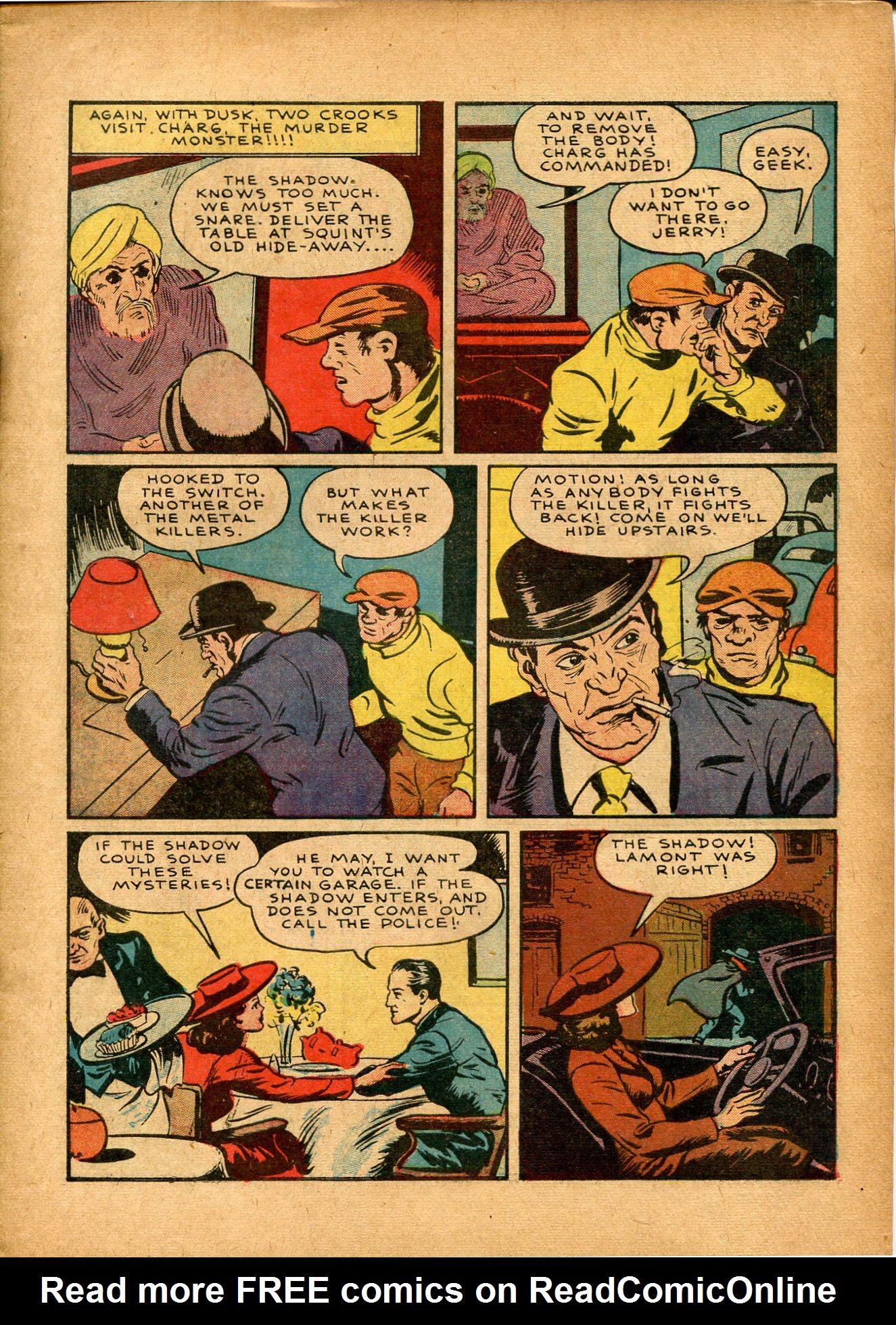 Read online Shadow Comics comic -  Issue #8 - 11