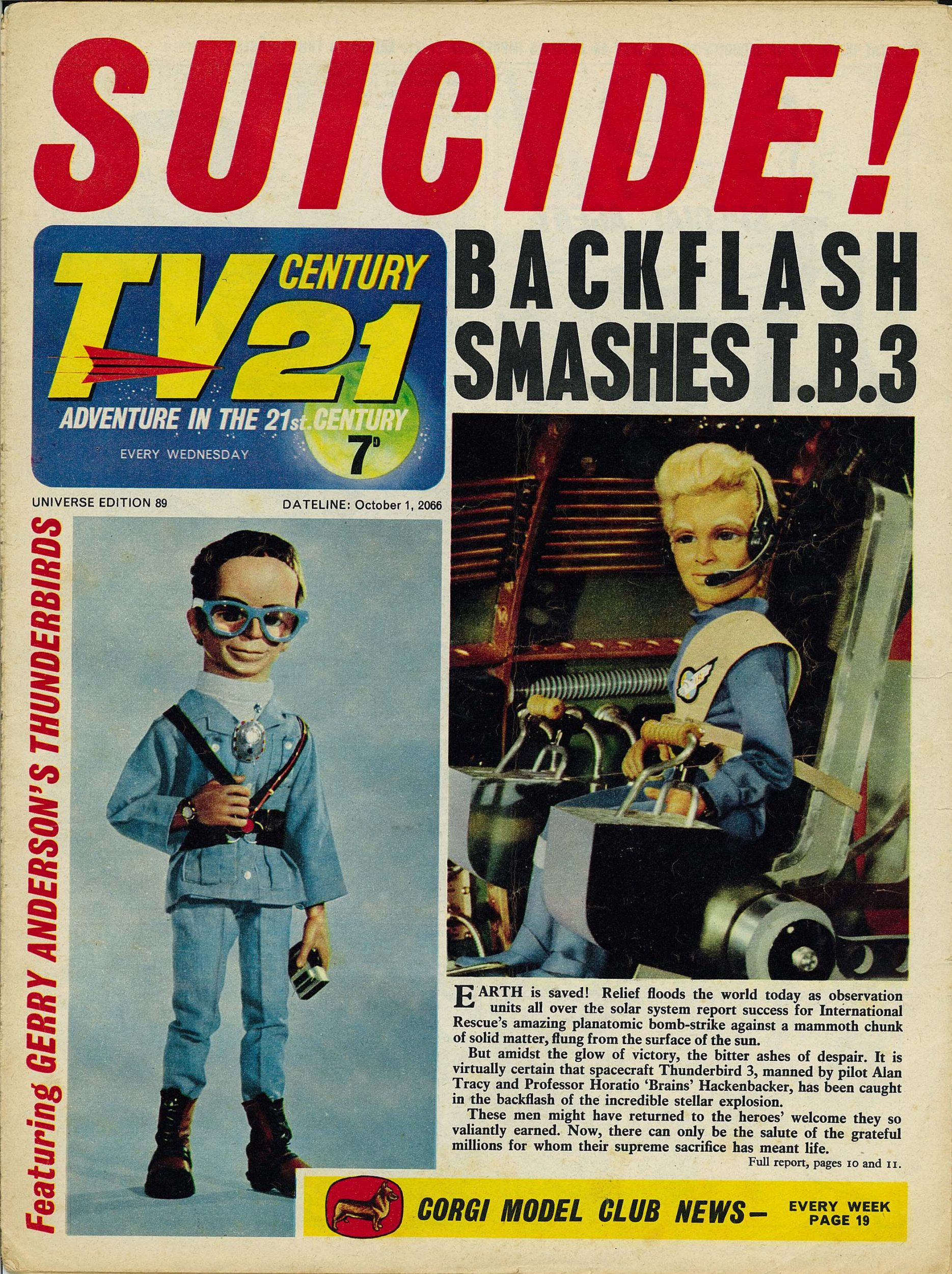 Read online TV Century 21 (TV 21) comic -  Issue #89 - 1