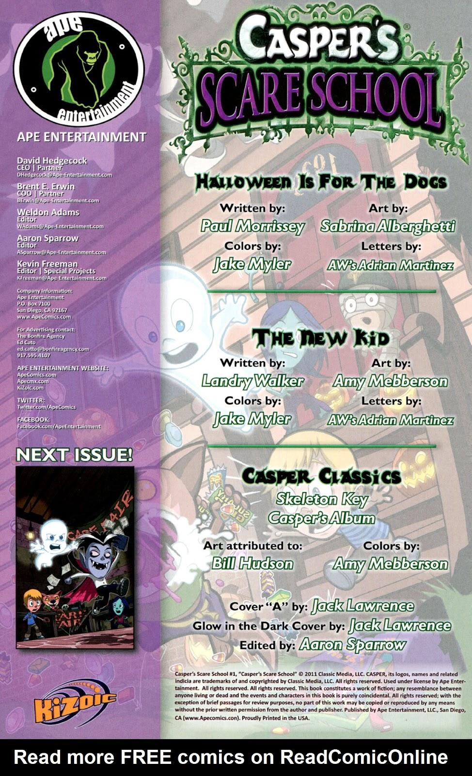 Read online Casper's Scare School comic -  Issue #1 - 2