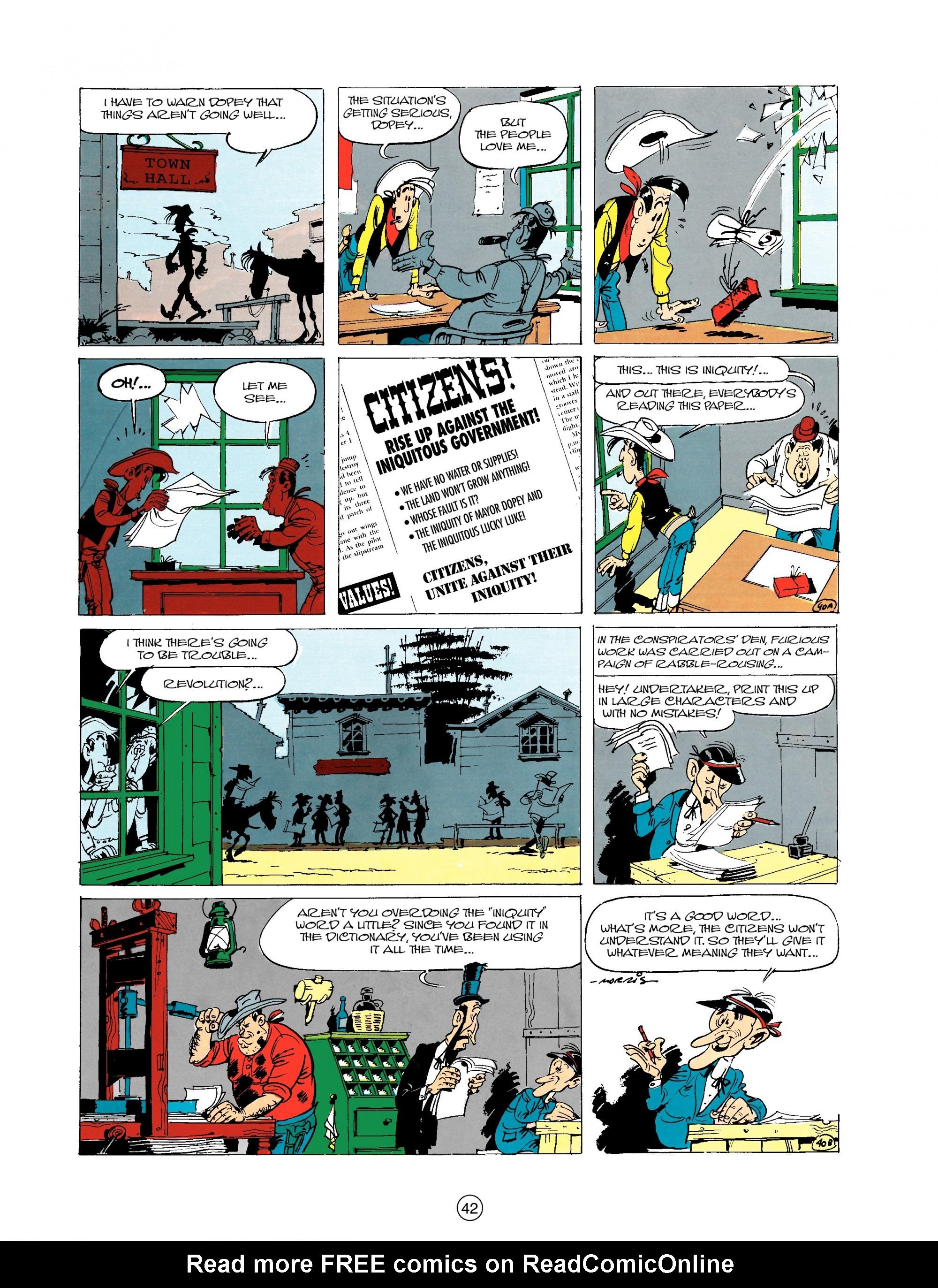 Read online A Lucky Luke Adventure comic -  Issue #20 - 42