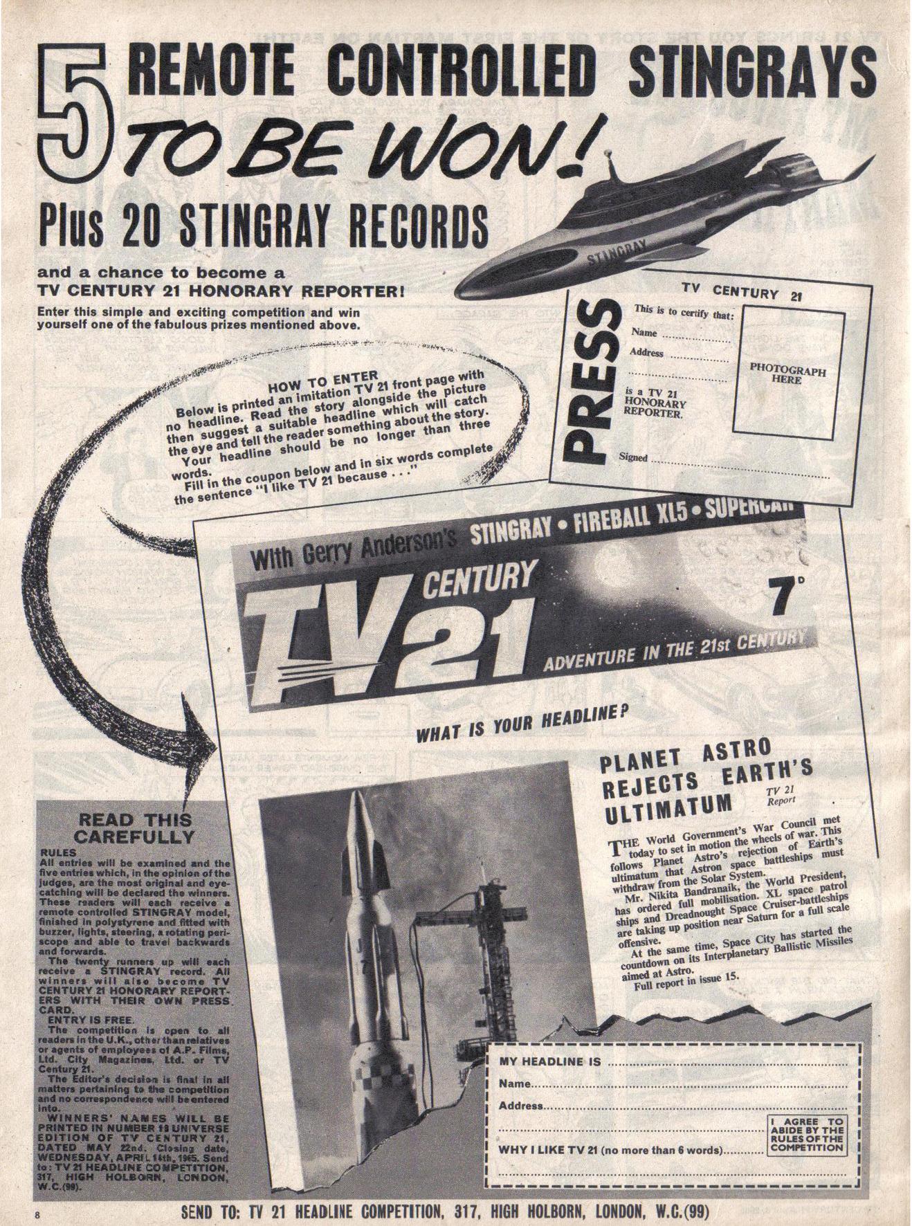 Read online TV Century 21 (TV 21) comic -  Issue #11 - 8