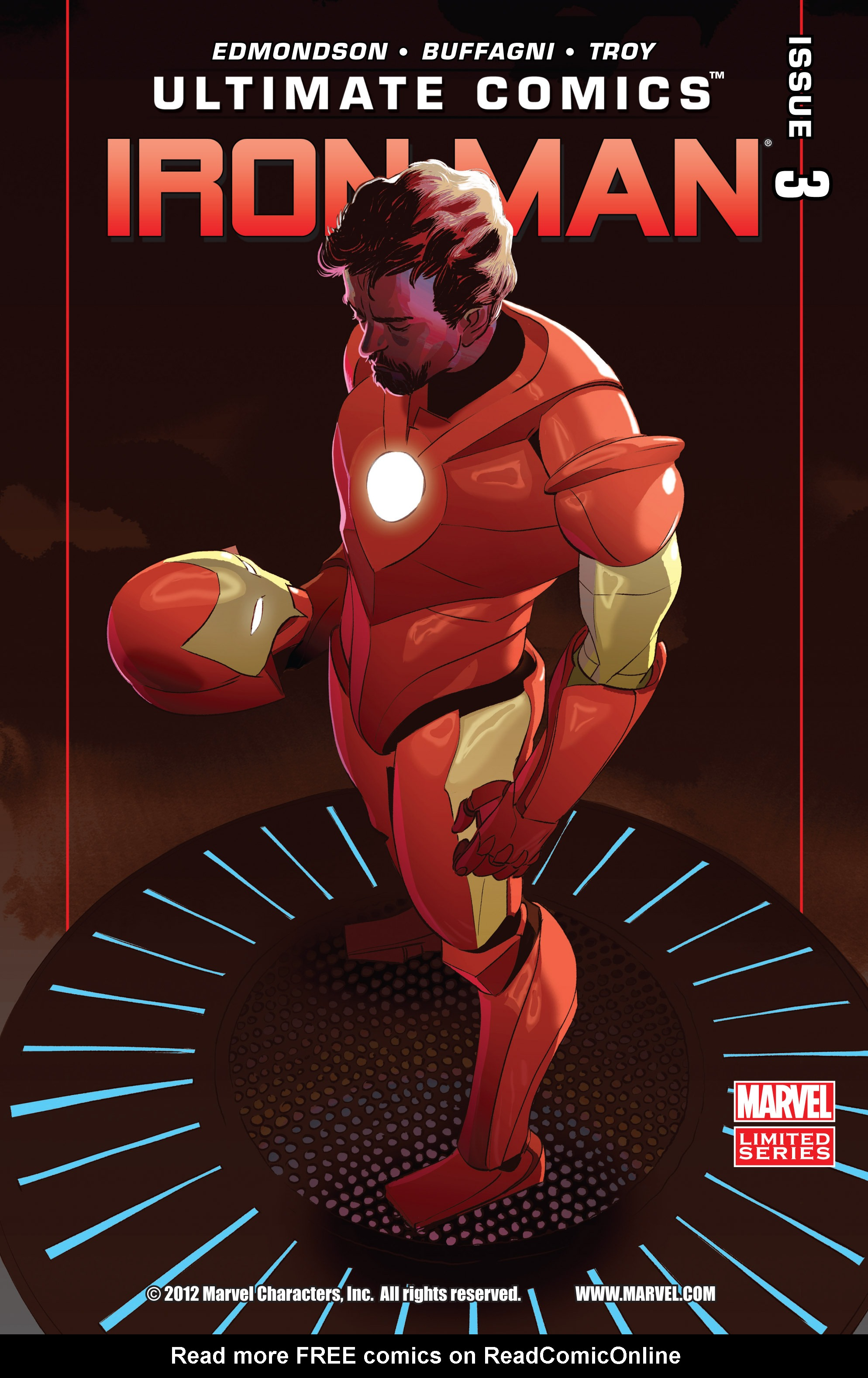 Read online Ultimate Comics Iron Man comic -  Issue #3 - 1